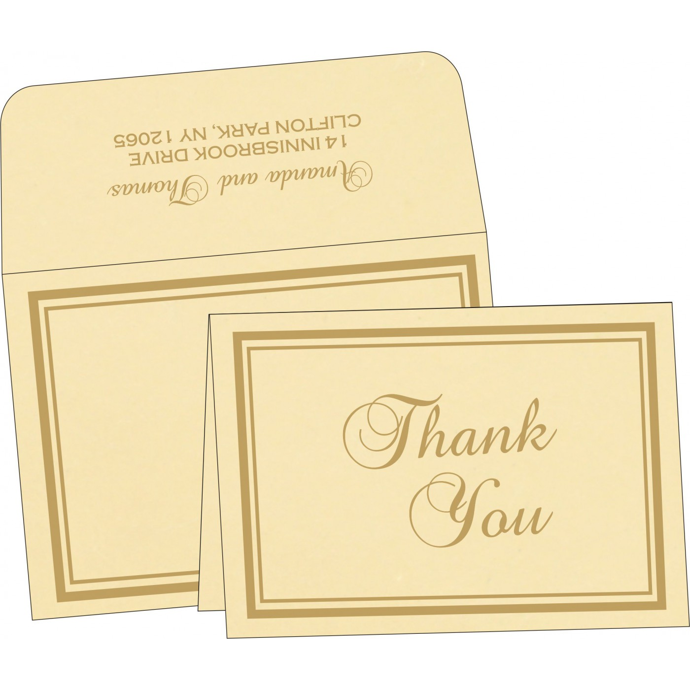 Thank You Cards : TYC-2177 - 123WeddingCards