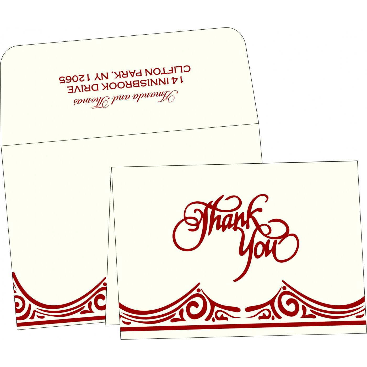 Thank You Cards : TYC-2207 - 123WeddingCards