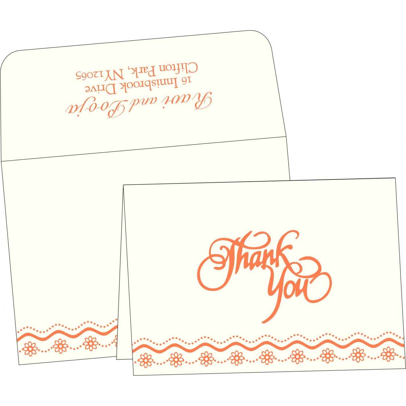 Thank You Cards : TYC-2214 - 123WeddingCards