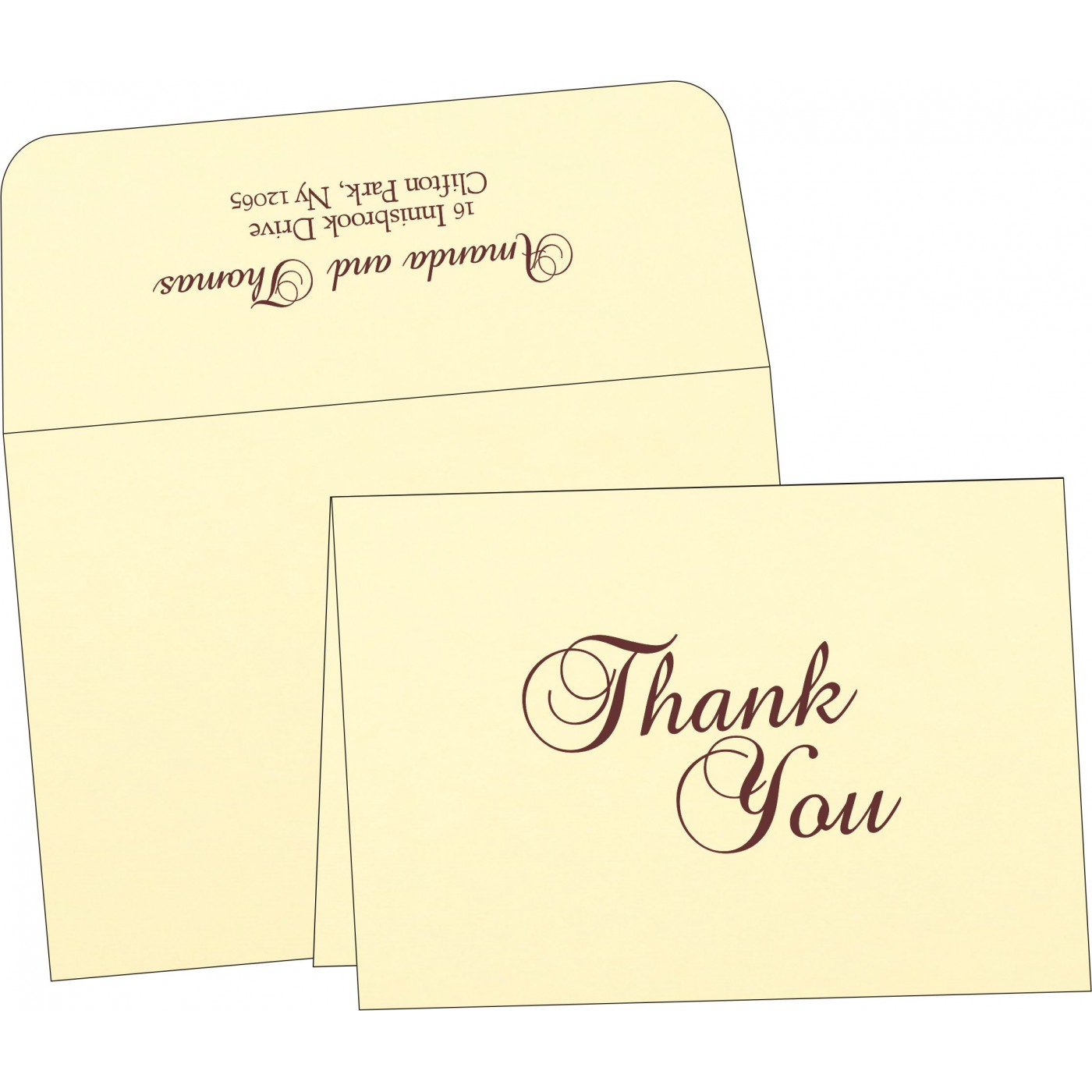 Thank You Cards : TYC-2275 - 123WeddingCards