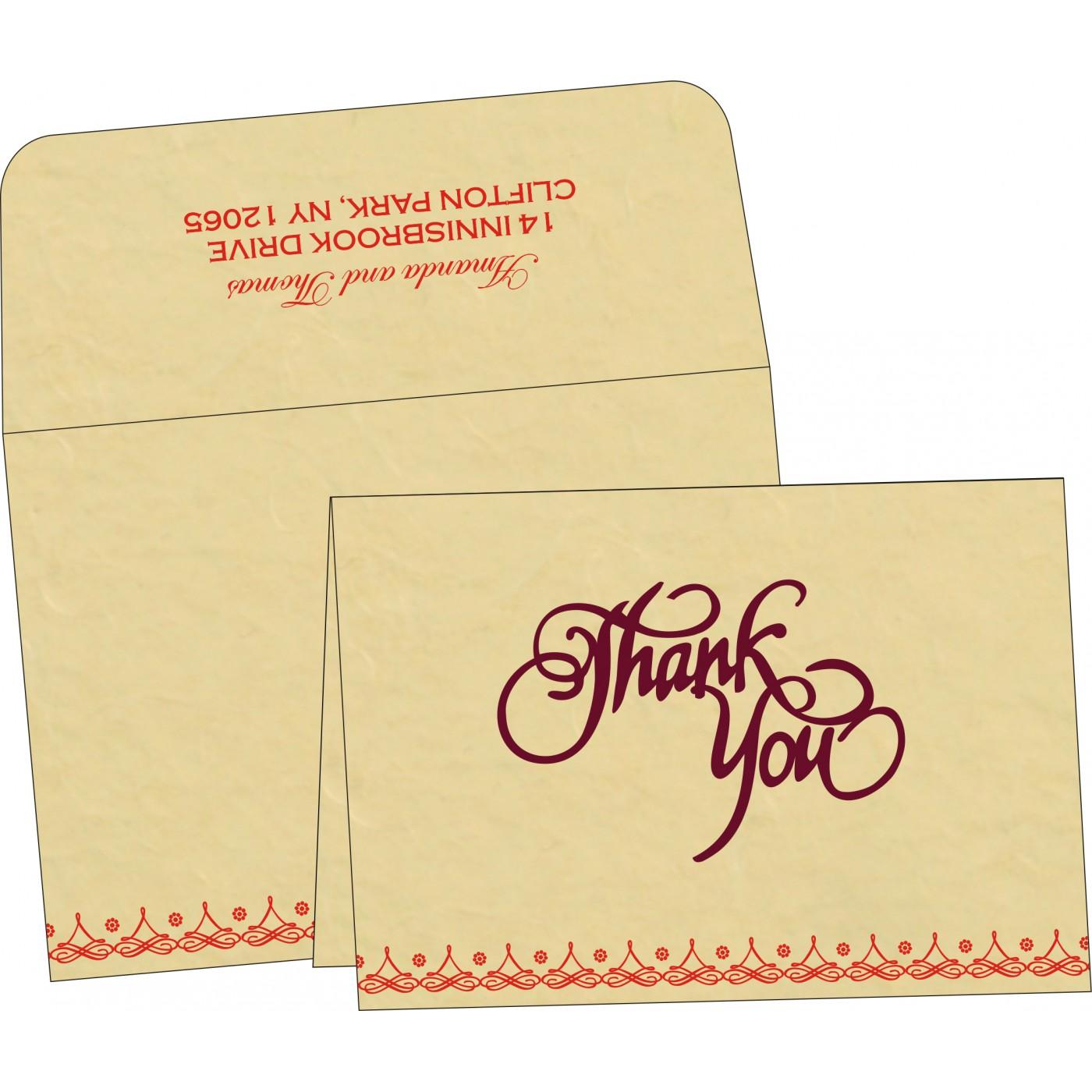Thank You Cards : TYC-5004A - 123WeddingCards