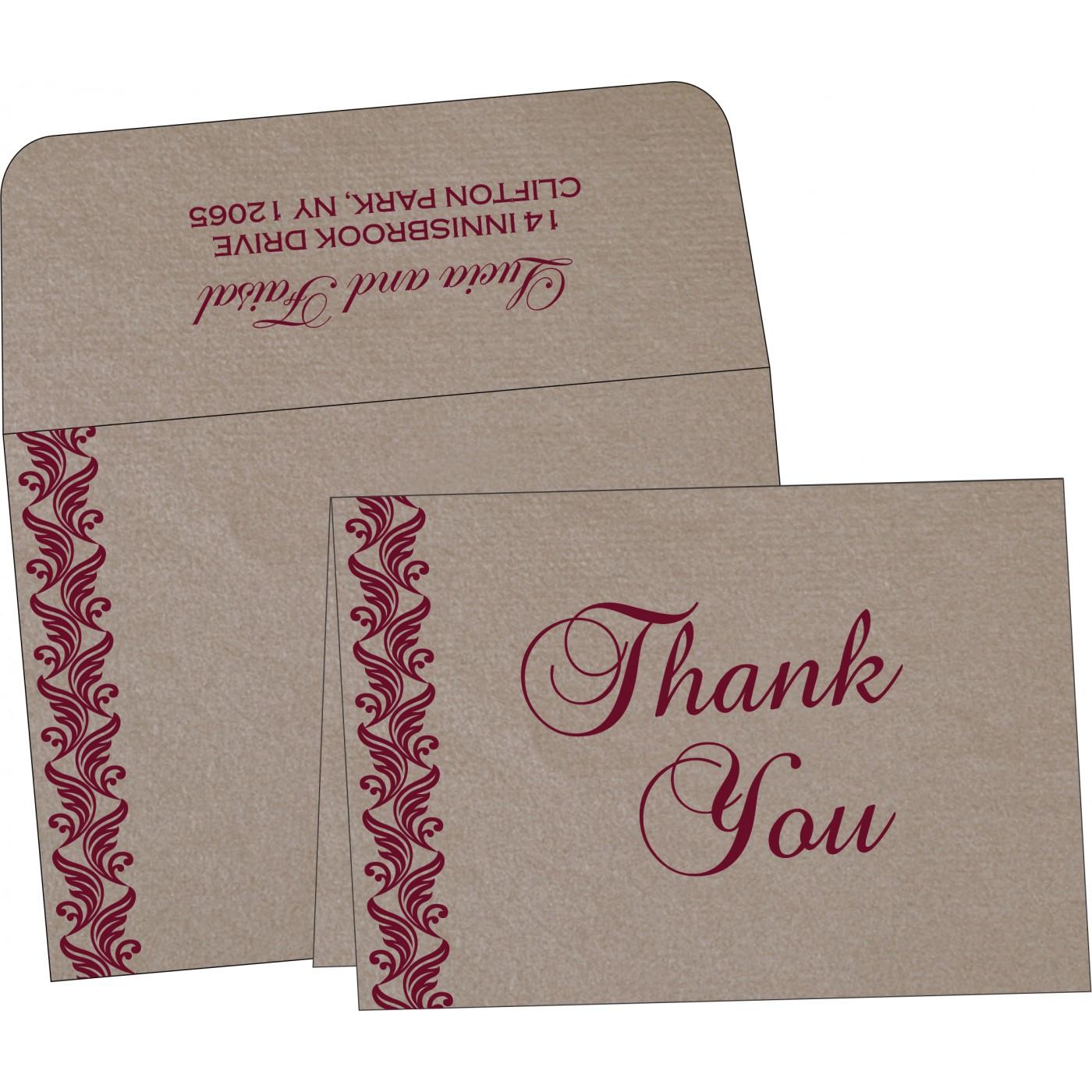 Thank You Cards : TYC-5007A - 123WeddingCards