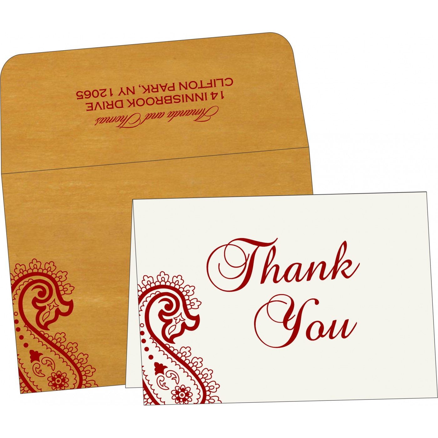 Thank You Cards : TYC-5015M - 123WeddingCards