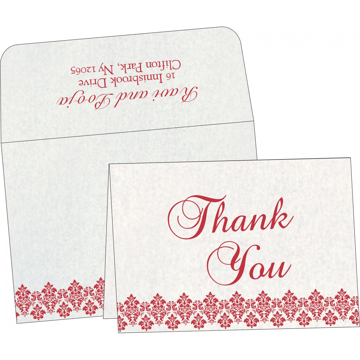 Thank You Cards : TYC-5016D - 123WeddingCards