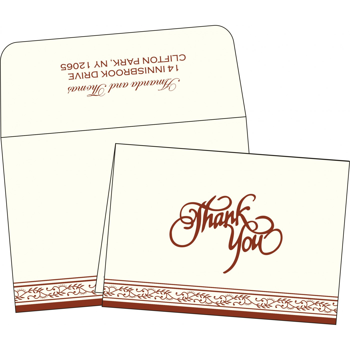 Thank You Cards : TYC-8202A - 123WeddingCards