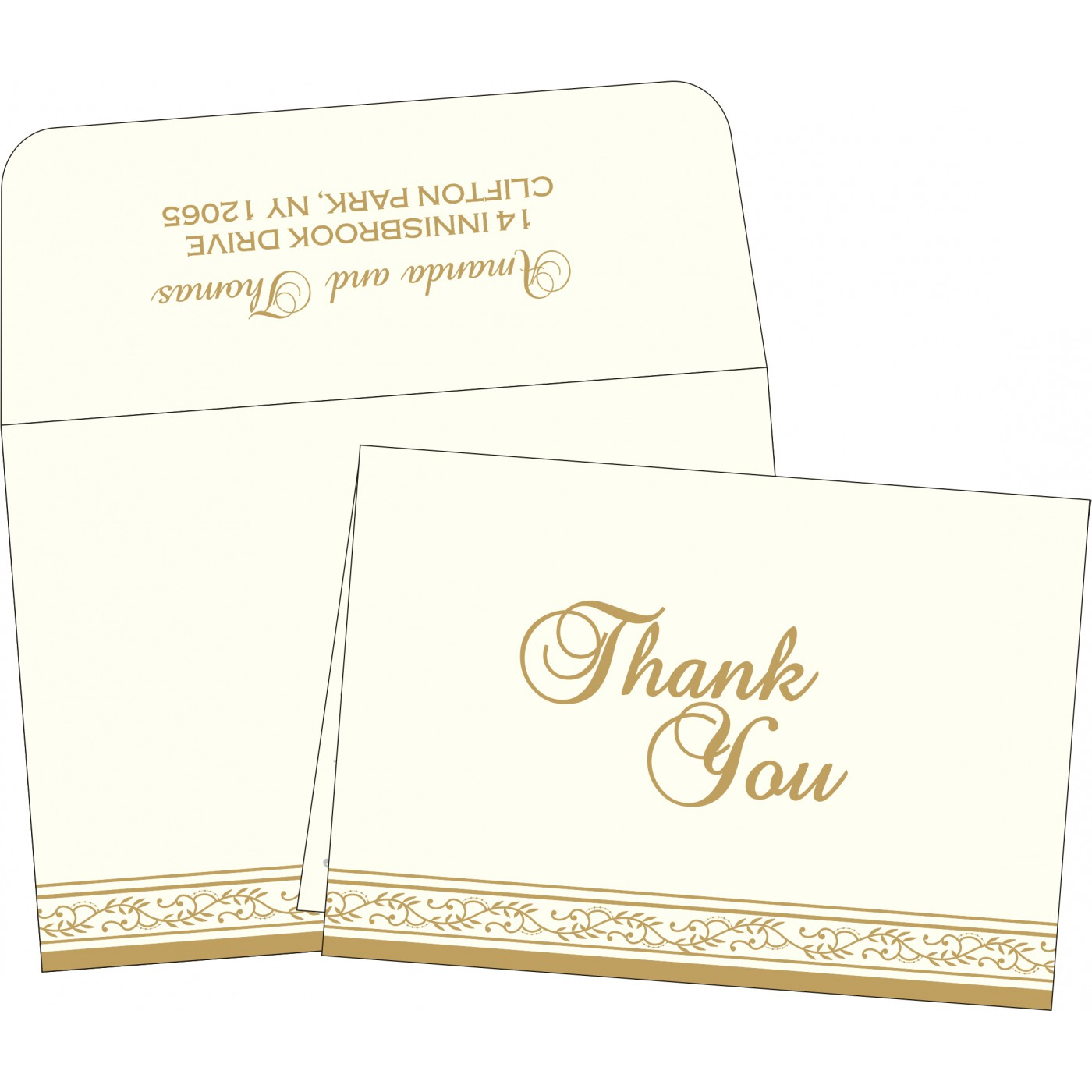 Thank You Cards : TYC-8202D - 123WeddingCards