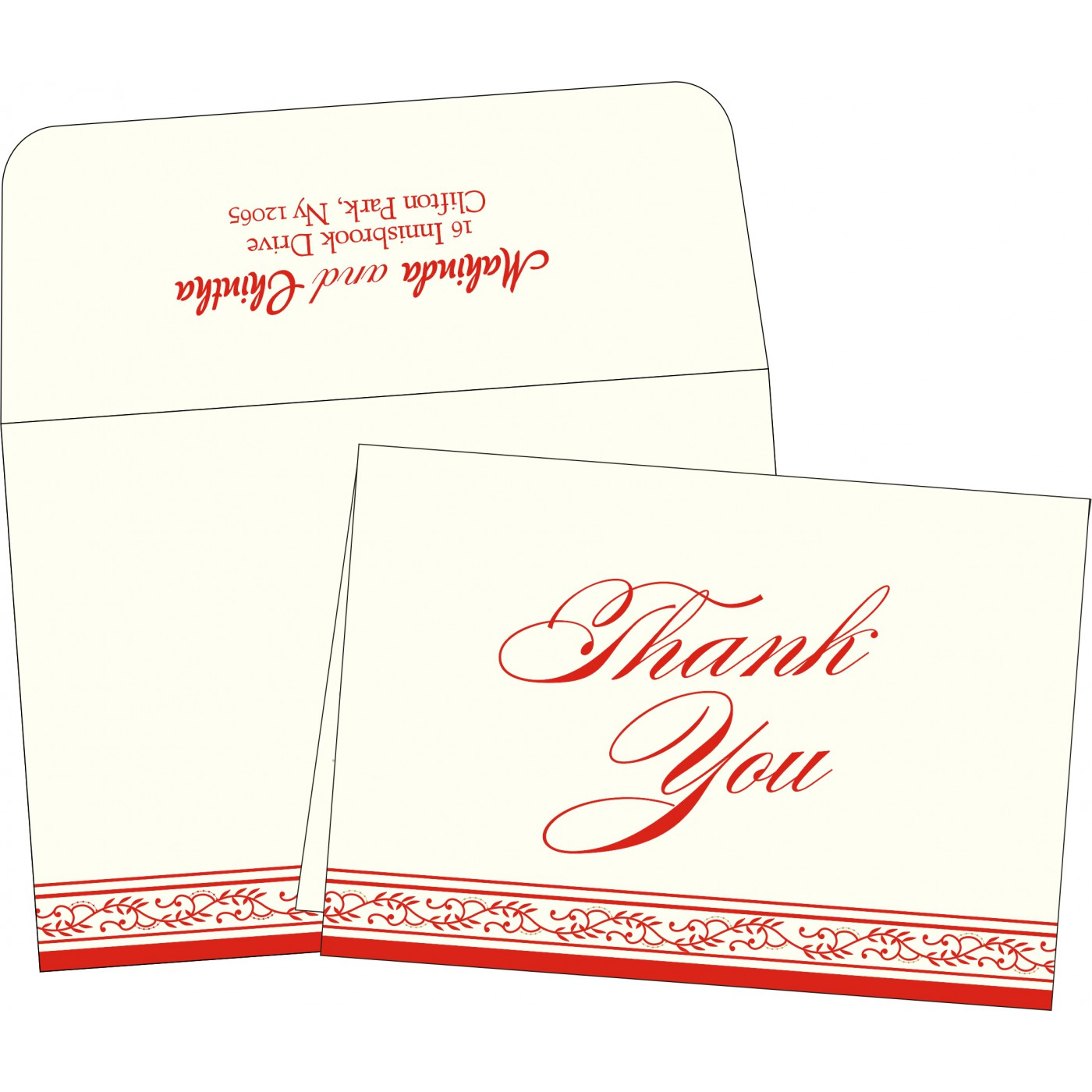 Thank You Cards : TYC-8202H - 123WeddingCards