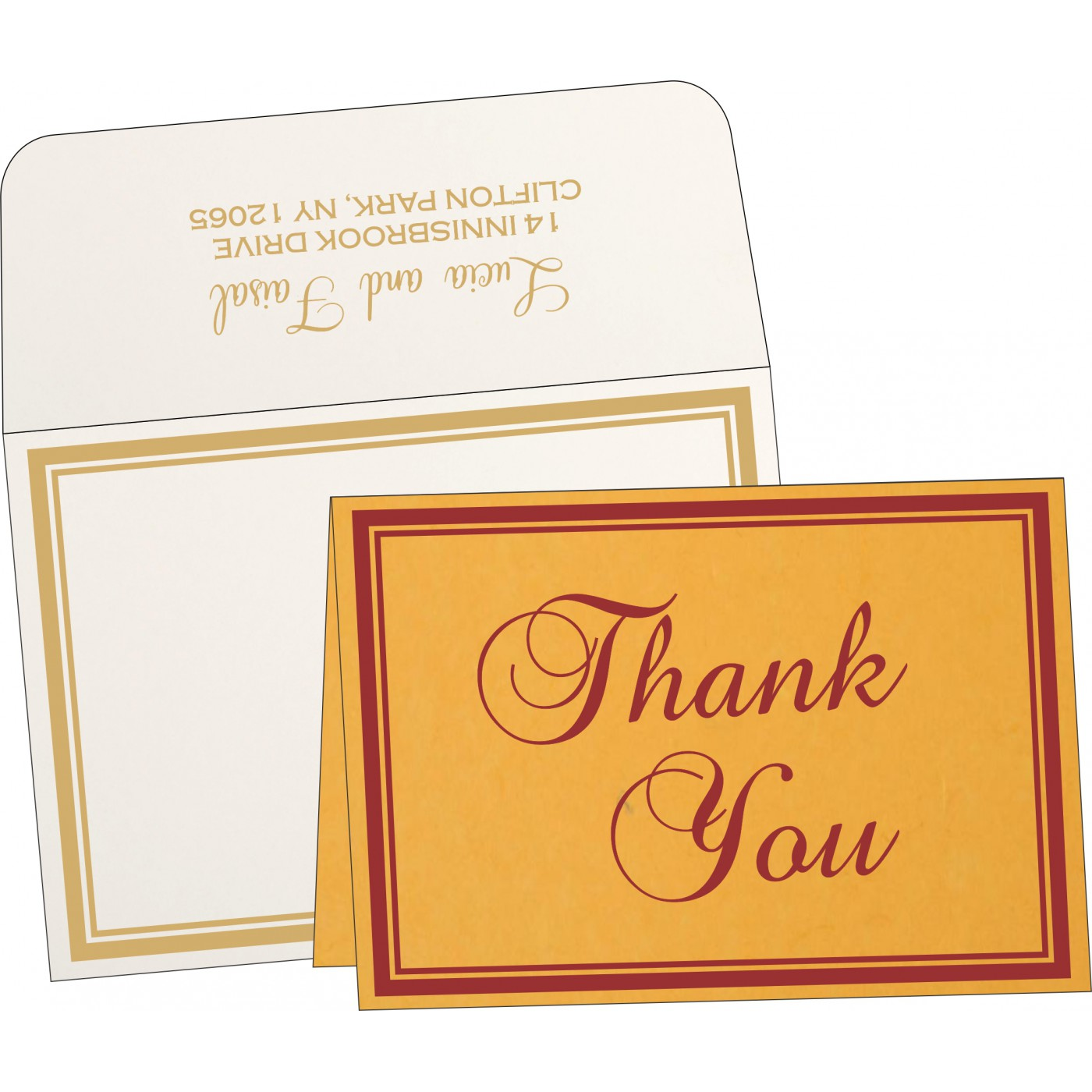 Thank You Cards : TYC-8203A - 123WeddingCards