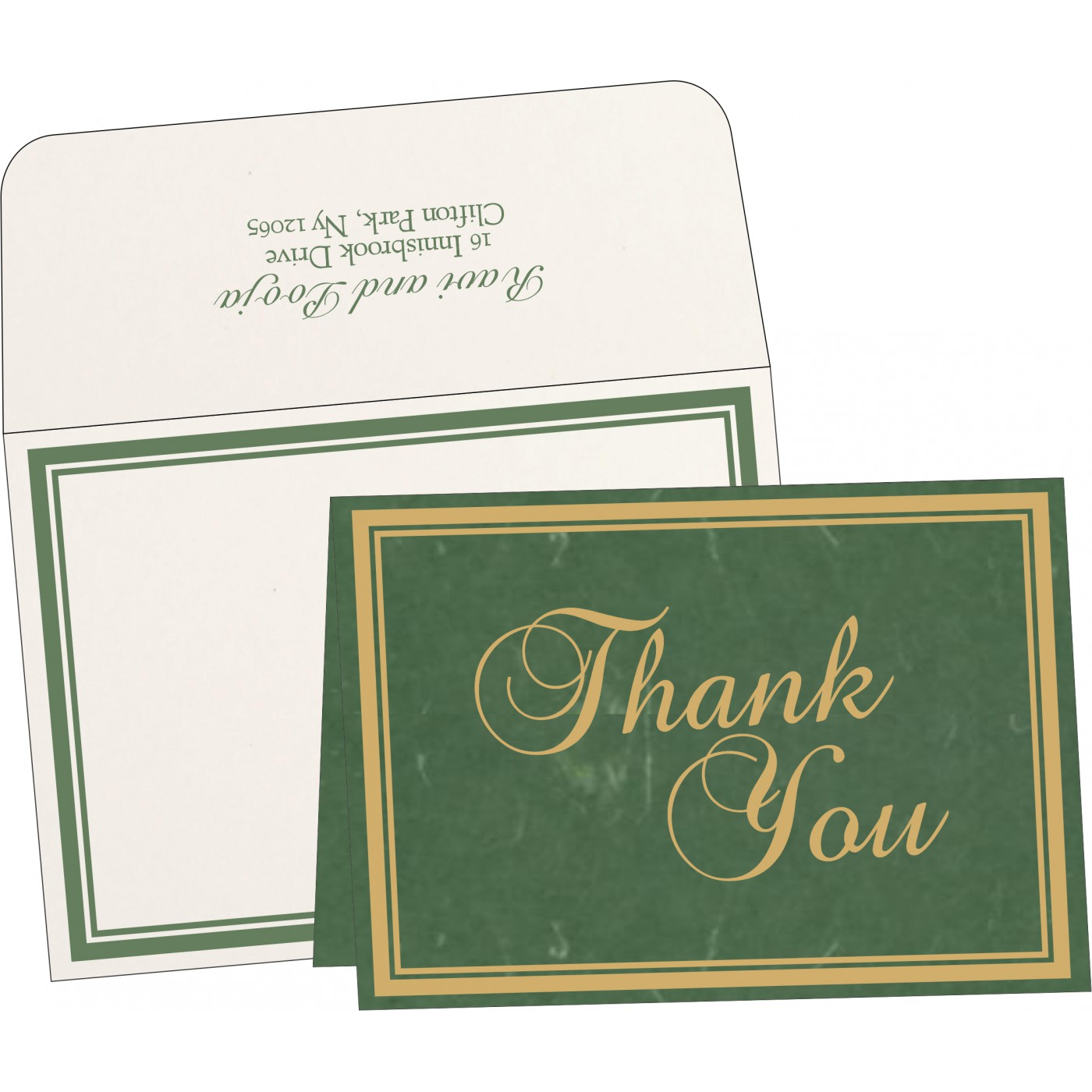 Thank You Cards : TYC-8203D - 123WeddingCards