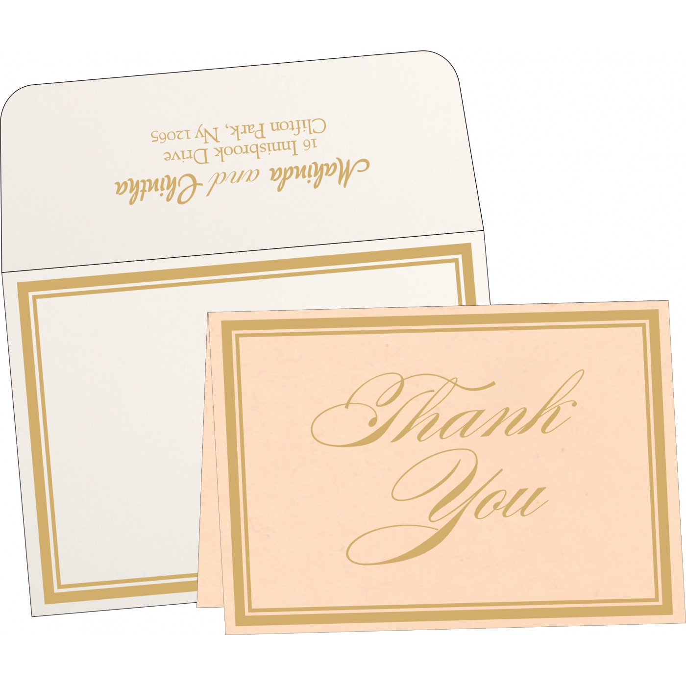 Thank You Cards : TYC-8203E - 123WeddingCards
