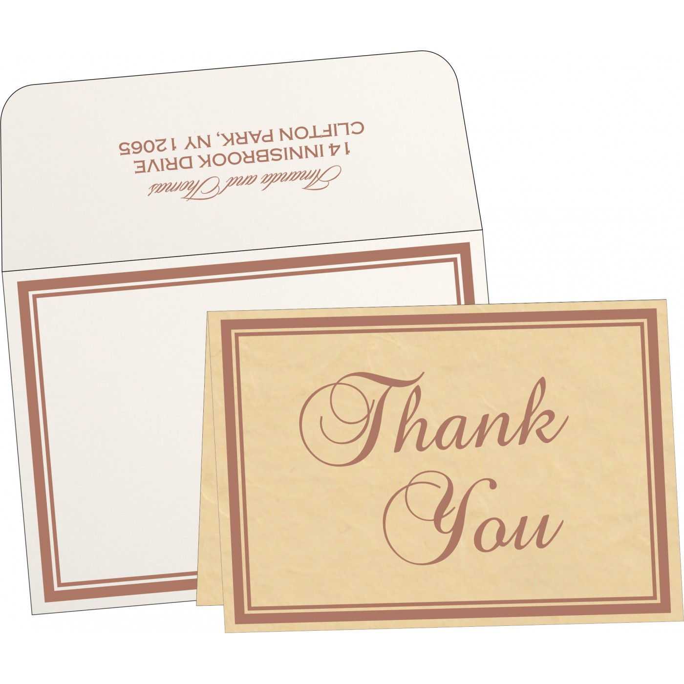 Thank You Cards : TYC-8203G - 123WeddingCards