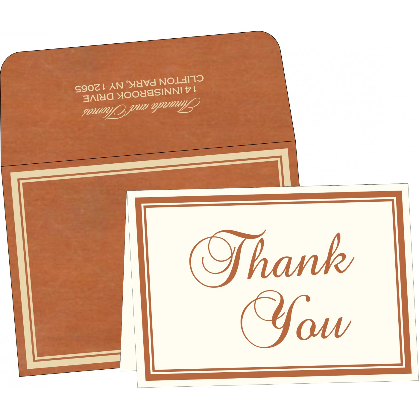 Thank You Cards : TYC-8204A - 123WeddingCards