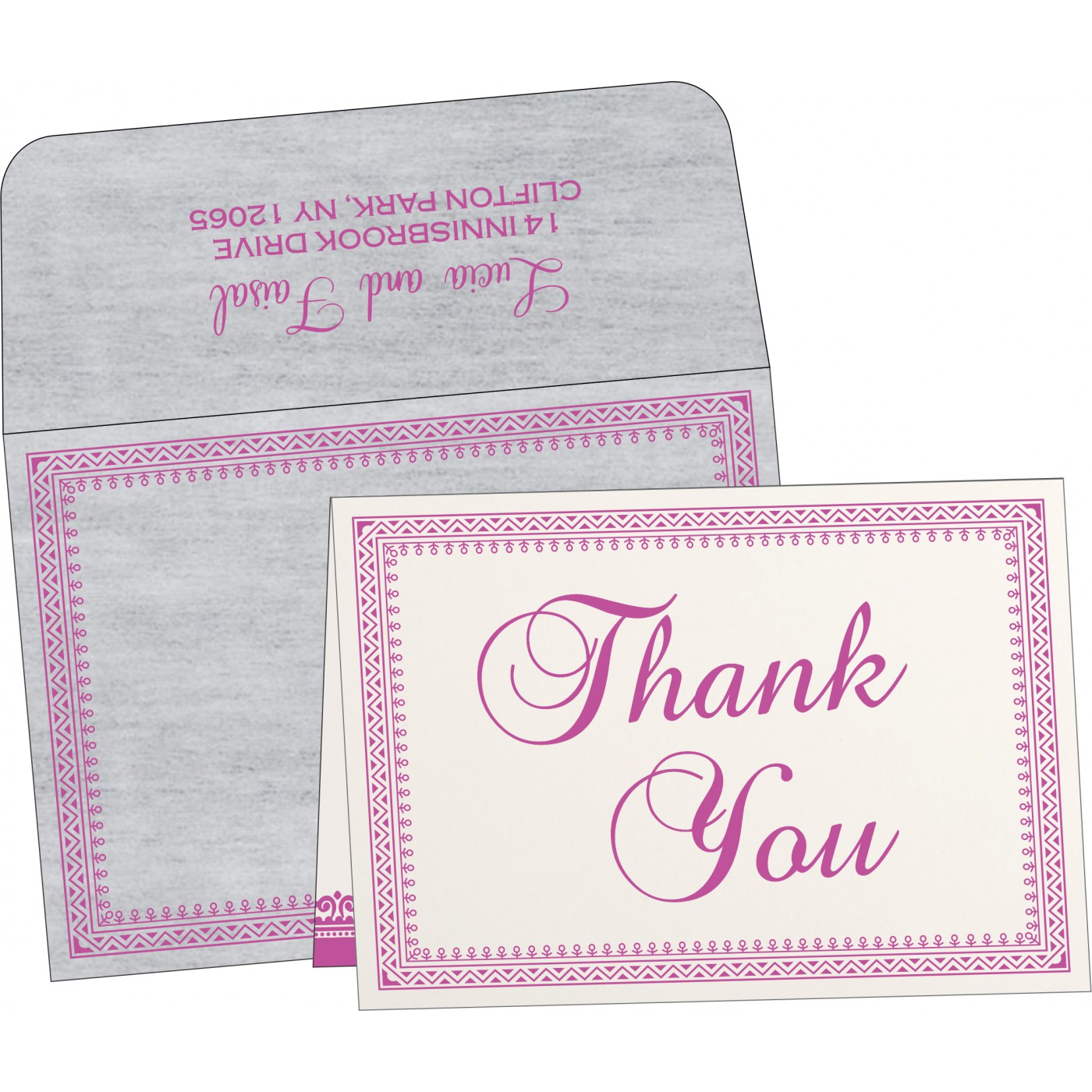 Thank You Cards : TYC-8205A - 123WeddingCards