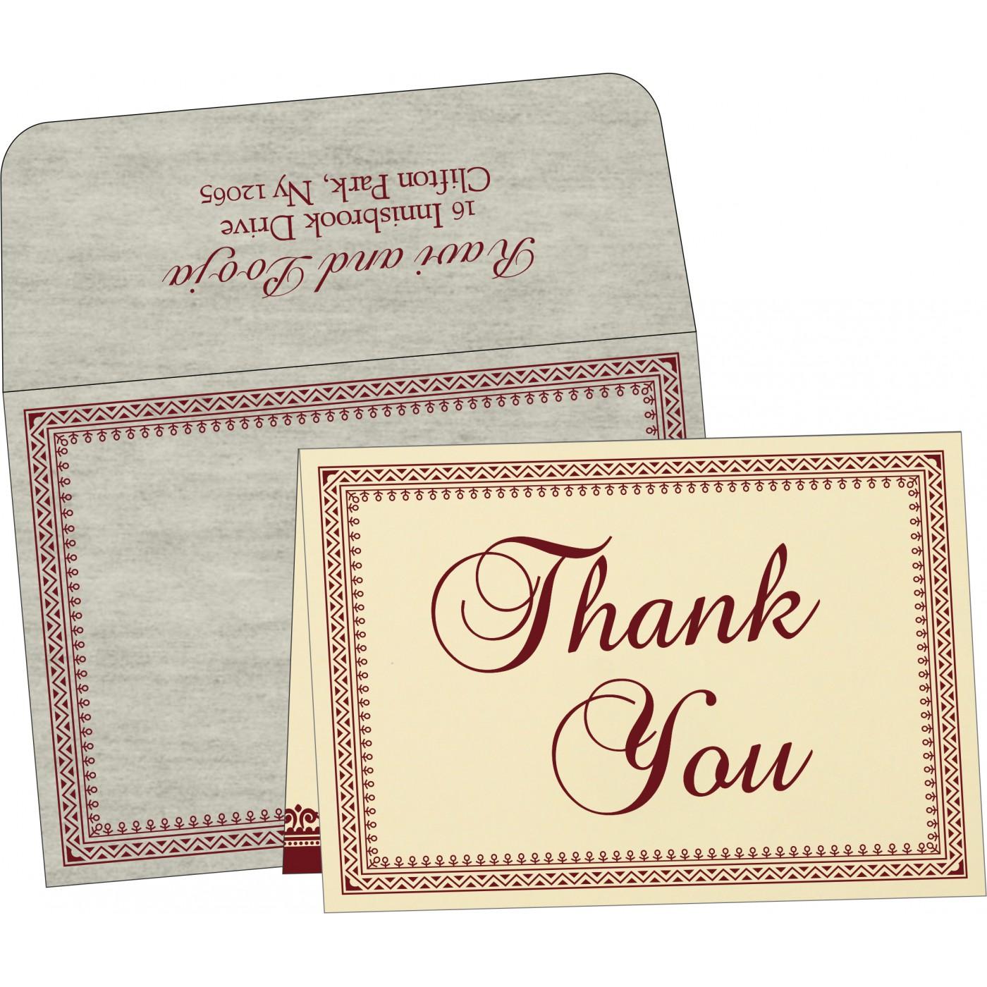 Thank You Cards : TYC-8205E - 123WeddingCards