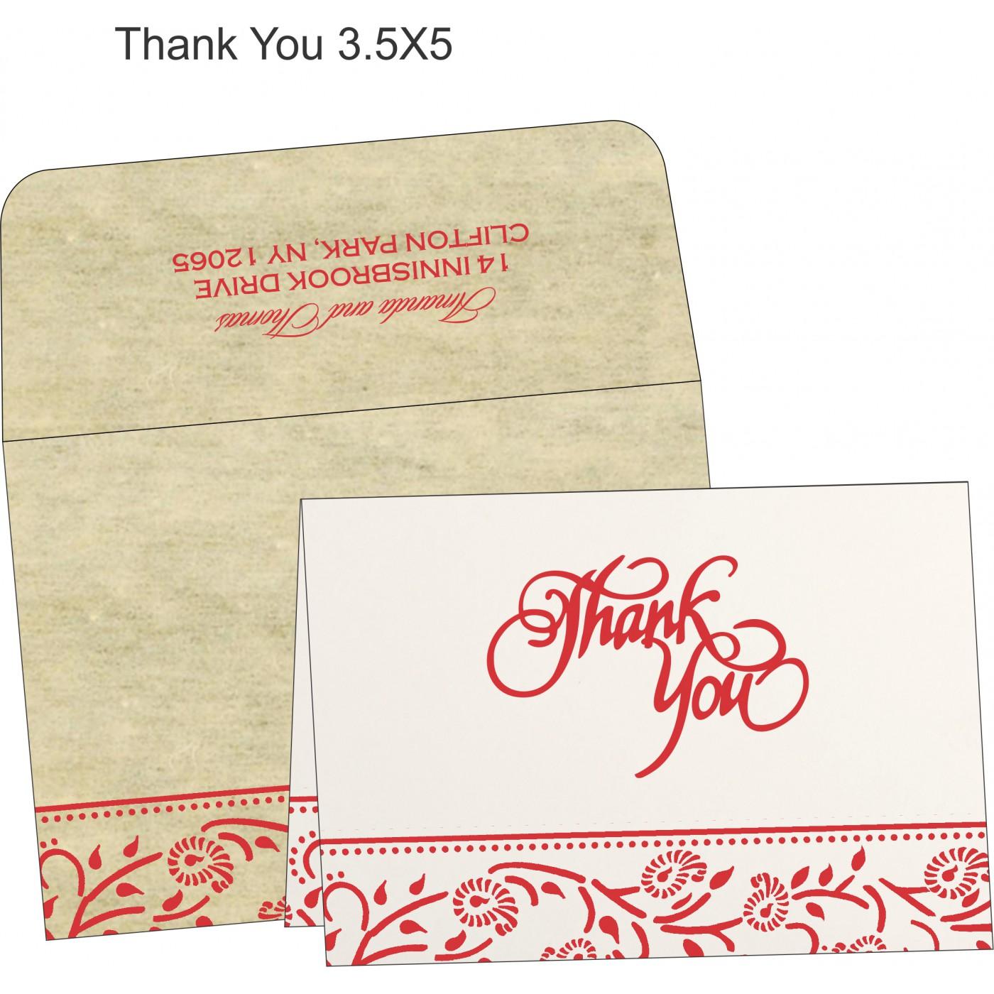 Thank You Cards : TYC-8206C - 123WeddingCards