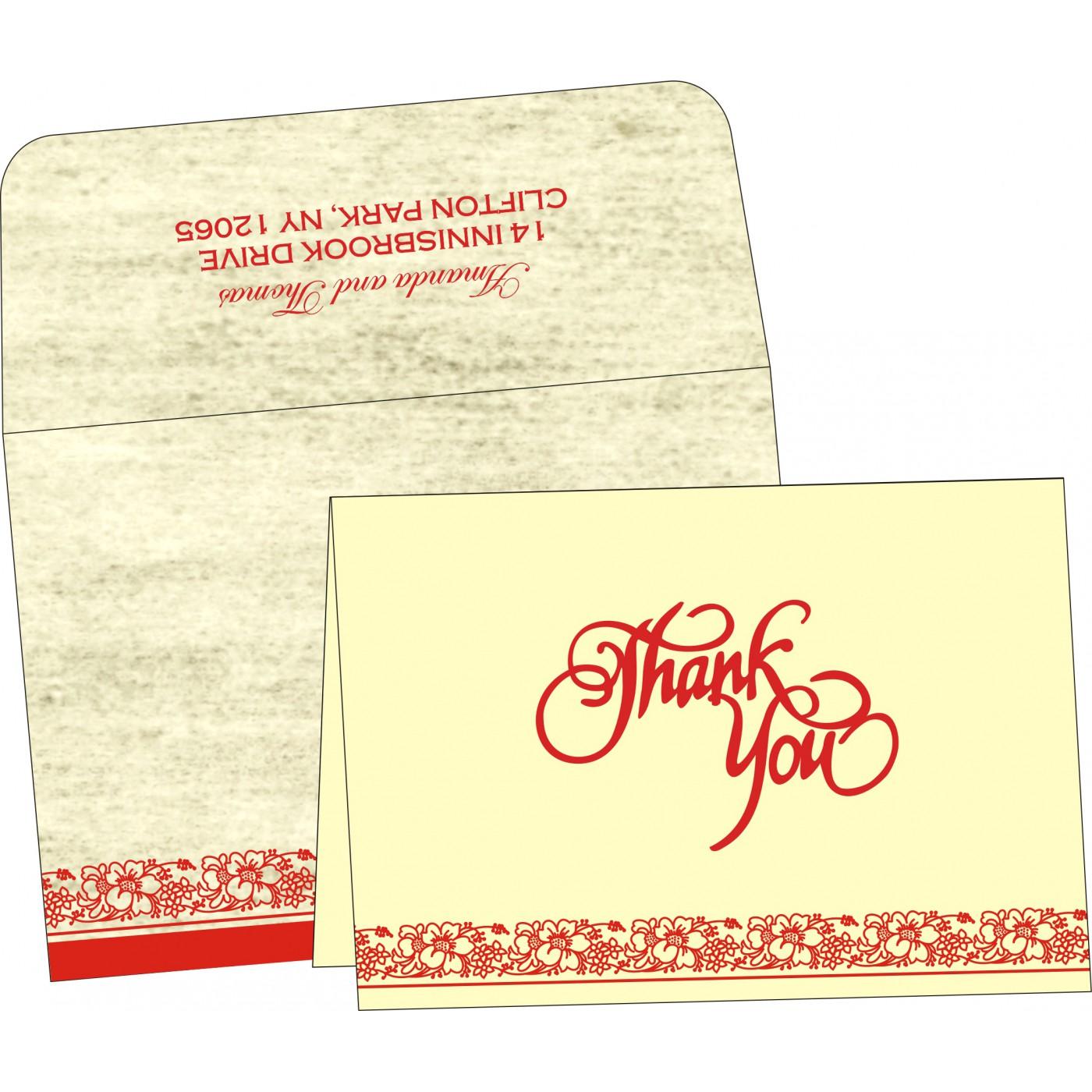 Thank You Cards : TYC-8207A - 123WeddingCards