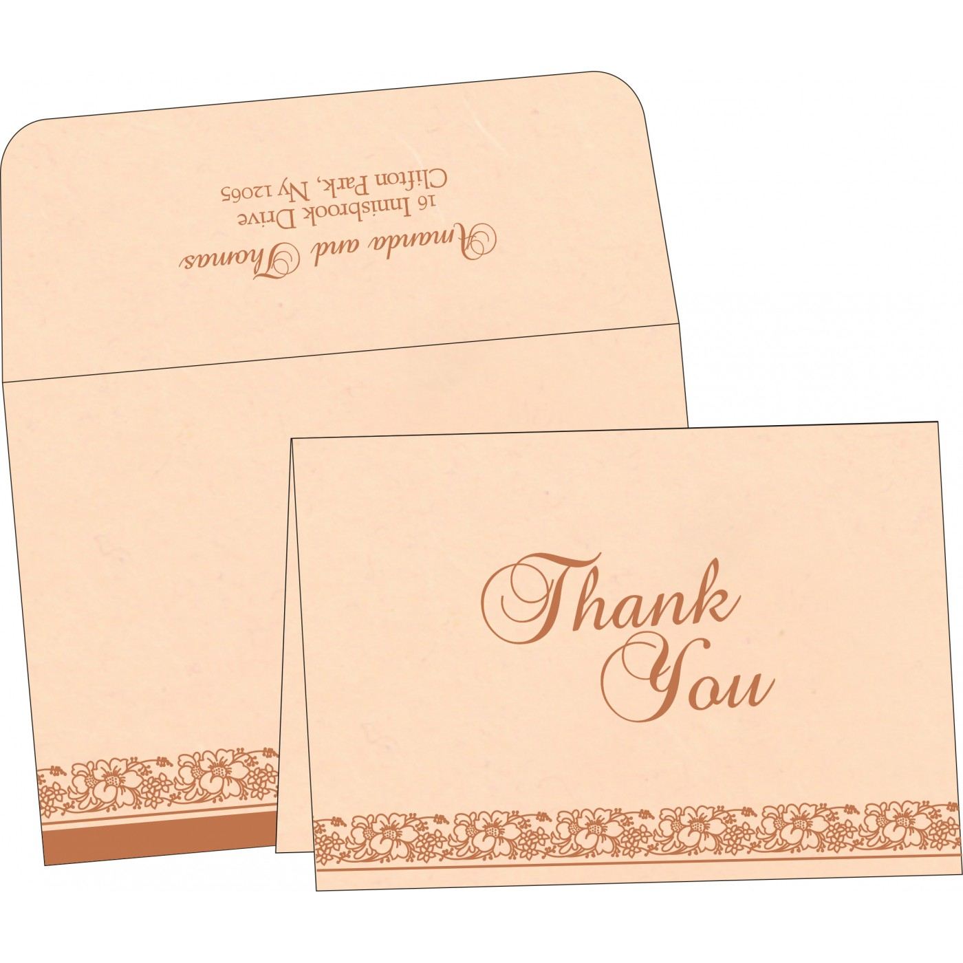 Thank You Cards : TYC-8207C - 123WeddingCards