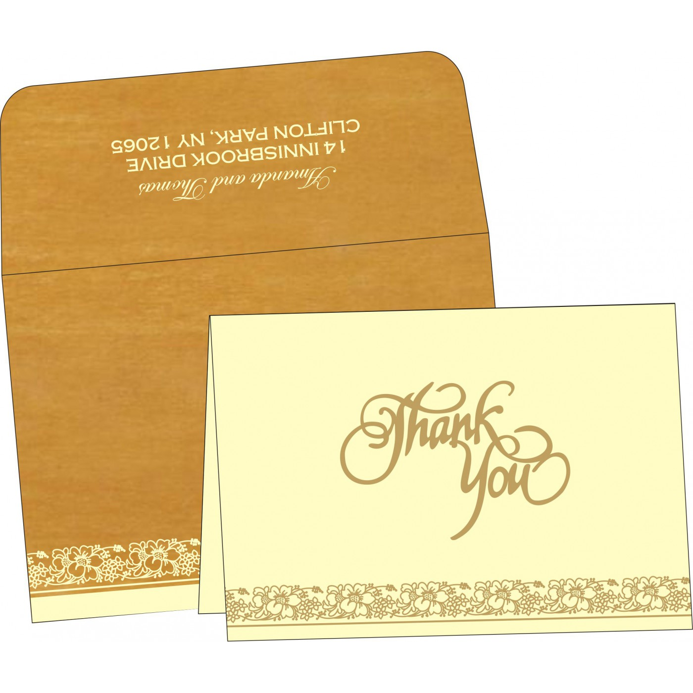 Thank You Cards : TYC-8207F - 123WeddingCards