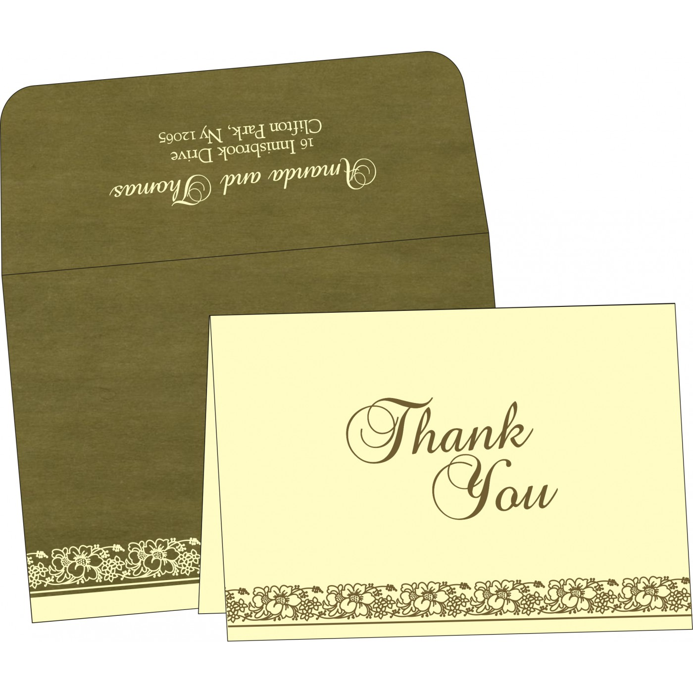 Thank You Cards : TYC-8207H - 123WeddingCards