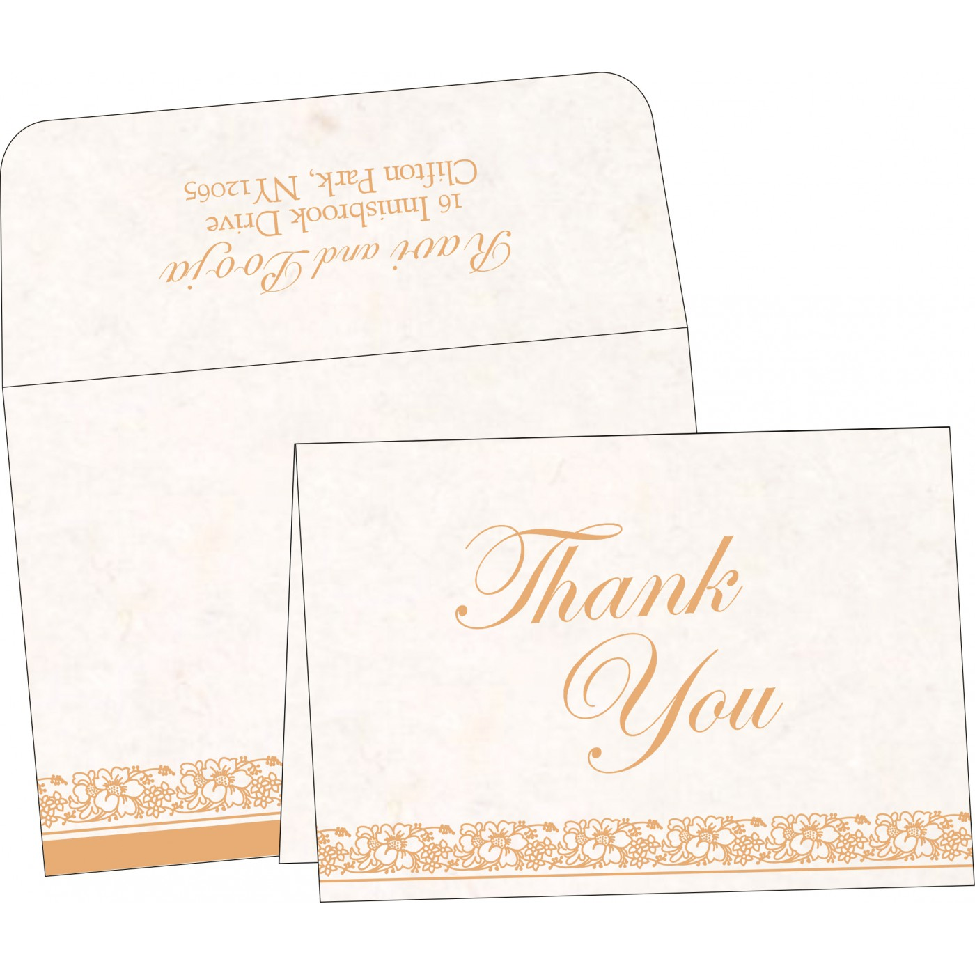 Thank You Cards : TYC-8207I - 123WeddingCards