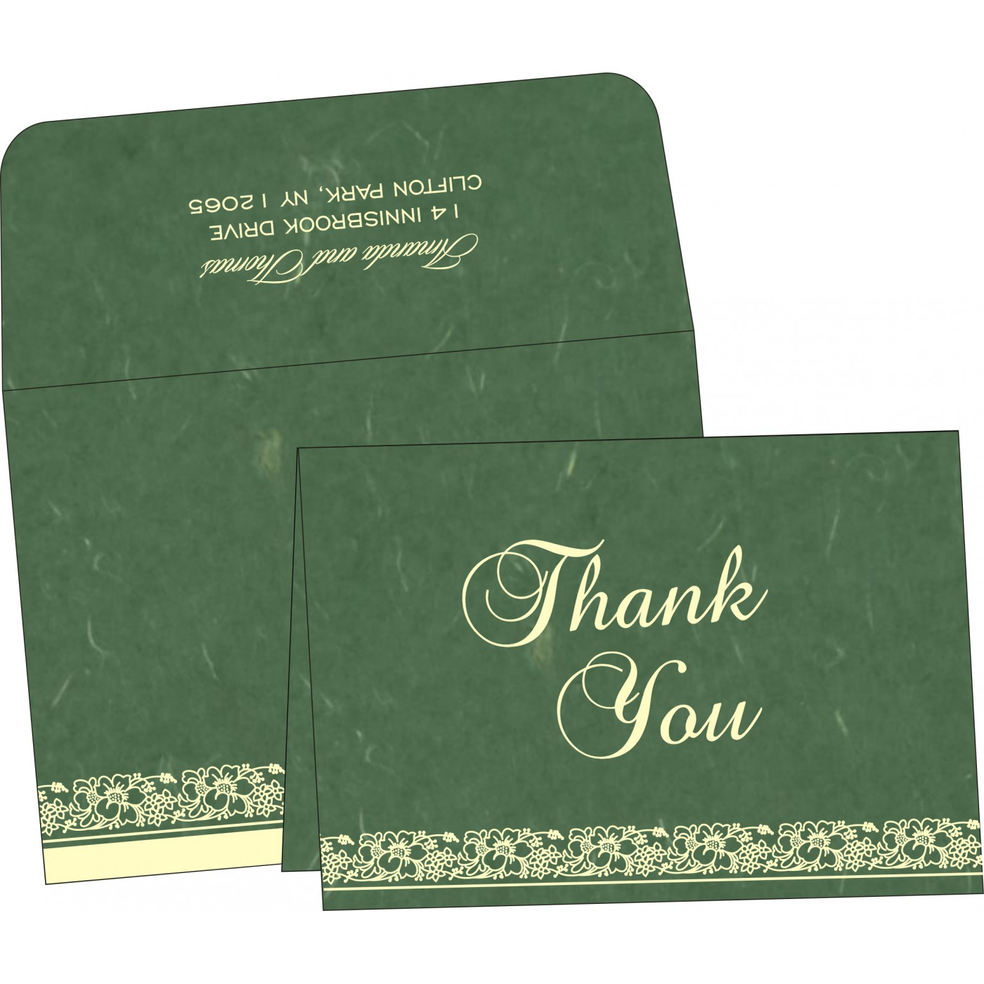 Thank You Cards : TYC-8207L - 123WeddingCards