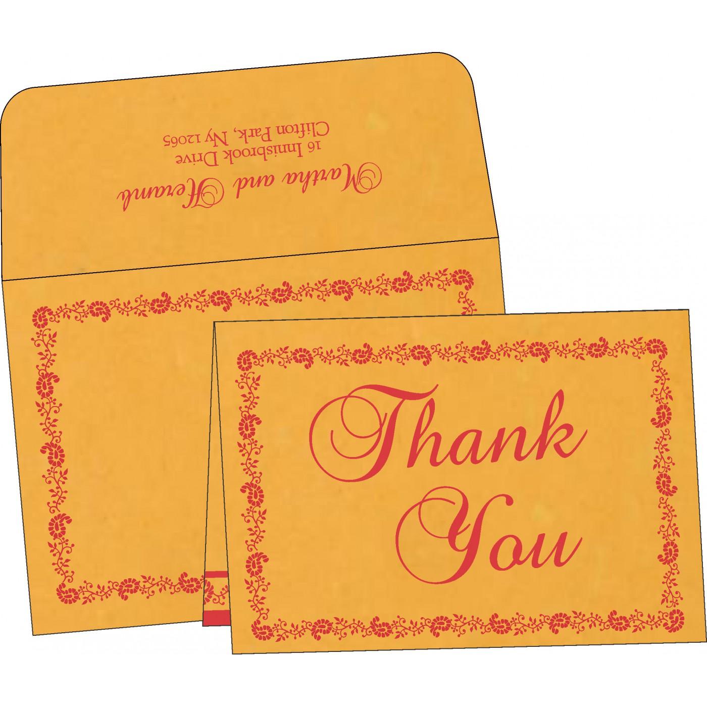 Thank You Cards : TYC-8208C - 123WeddingCards