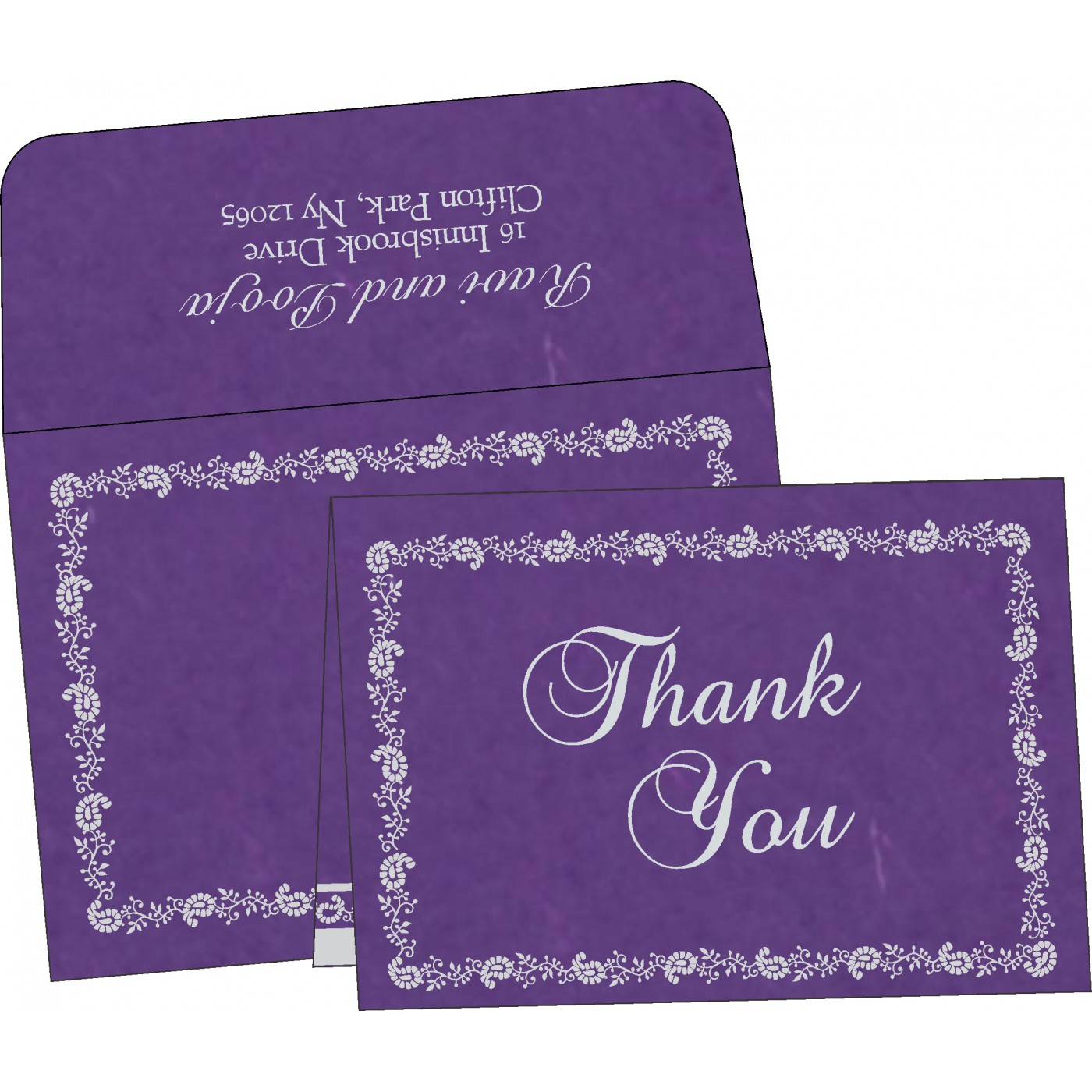 Thank You Cards : TYC-8208D - 123WeddingCards
