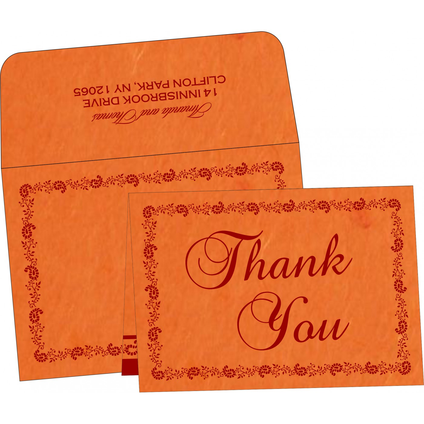 Thank You Cards : TYC-8208G - 123WeddingCards