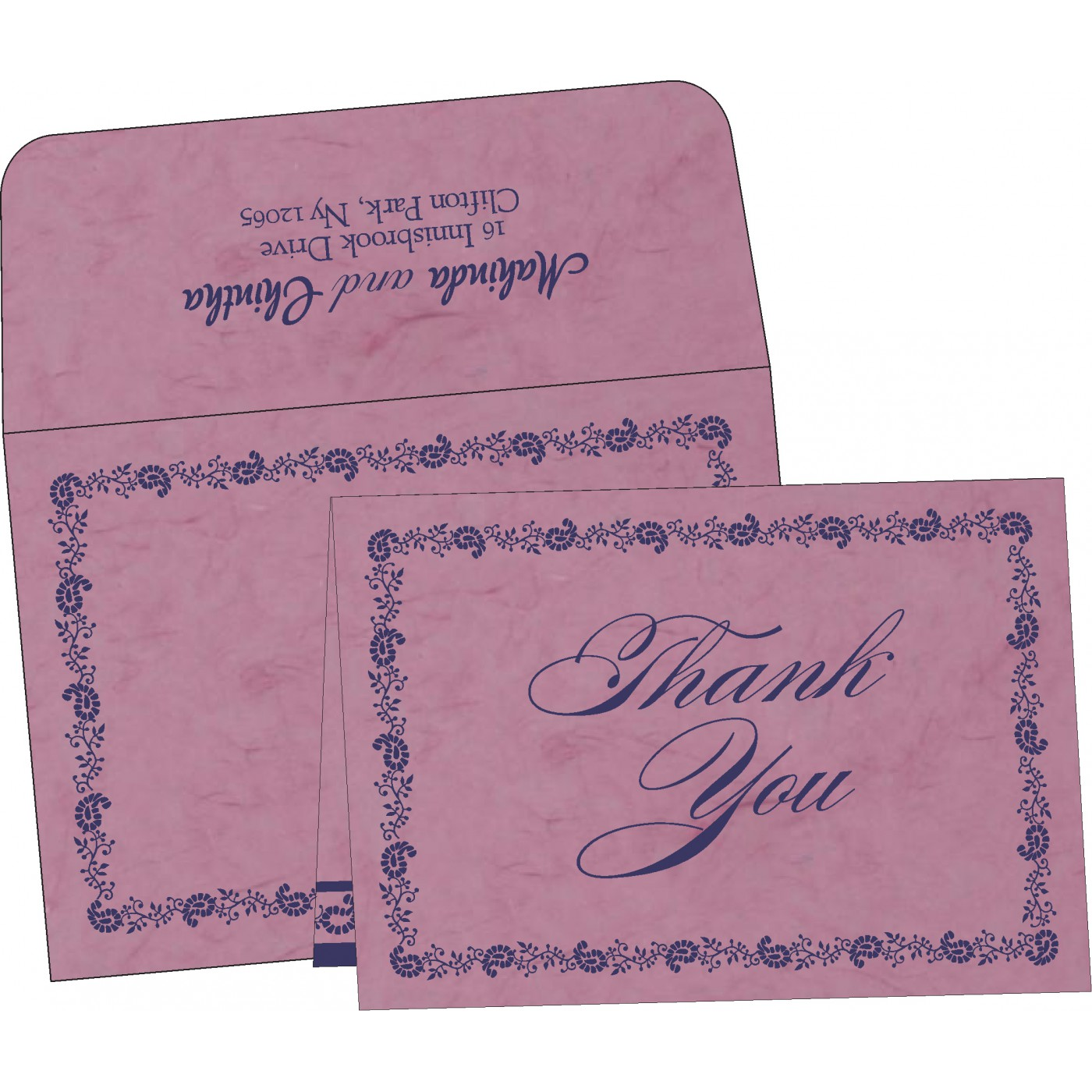 Thank You Cards : TYC-8208J - 123WeddingCards