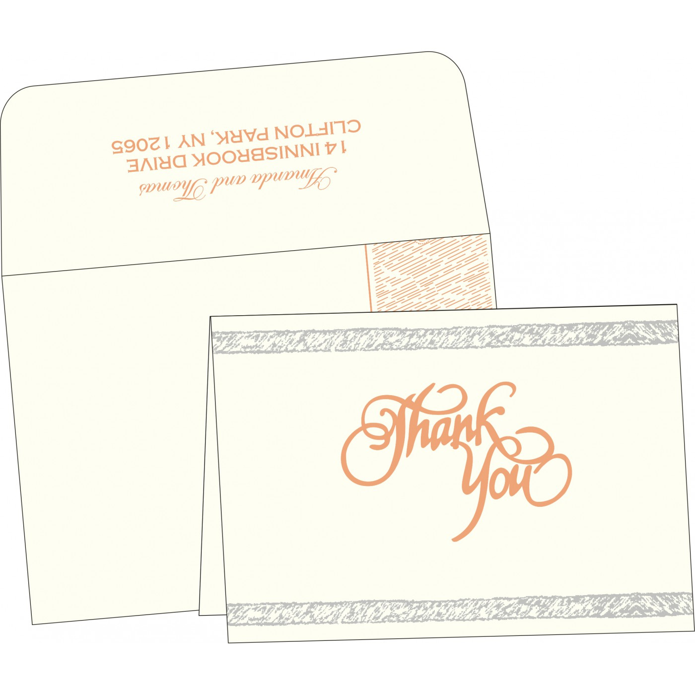Thank You Cards : TYC-8209A - 123WeddingCards
