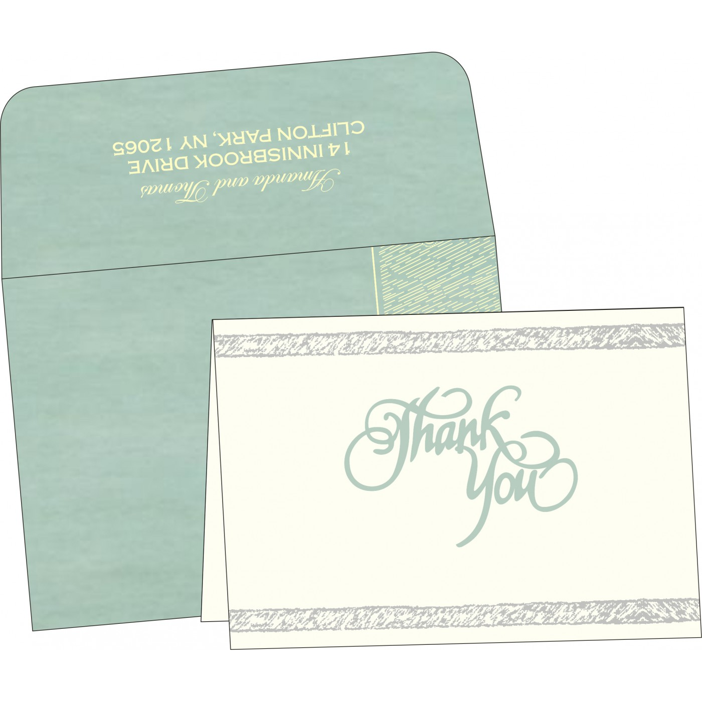Thank You Cards : TYC-8209F - 123WeddingCards