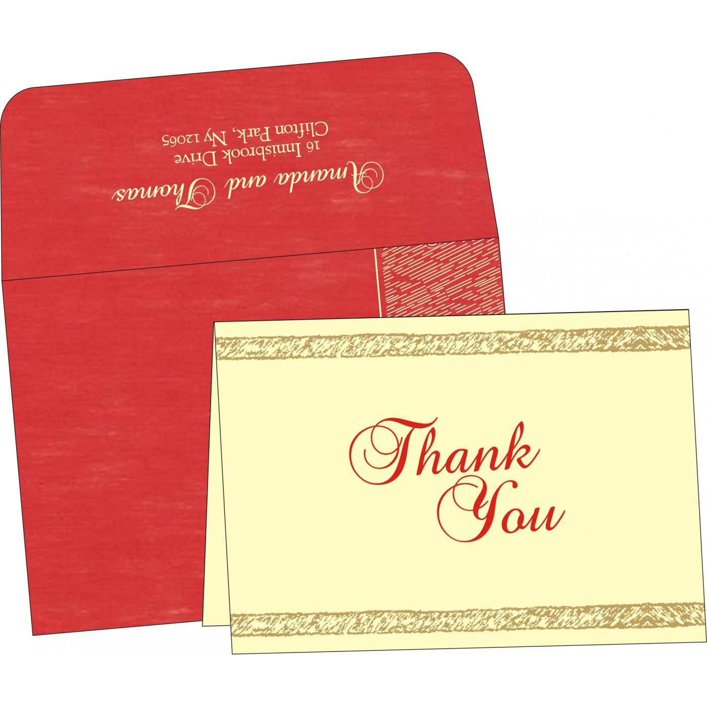 Thank You Cards : TYC-8209I - 123WeddingCards