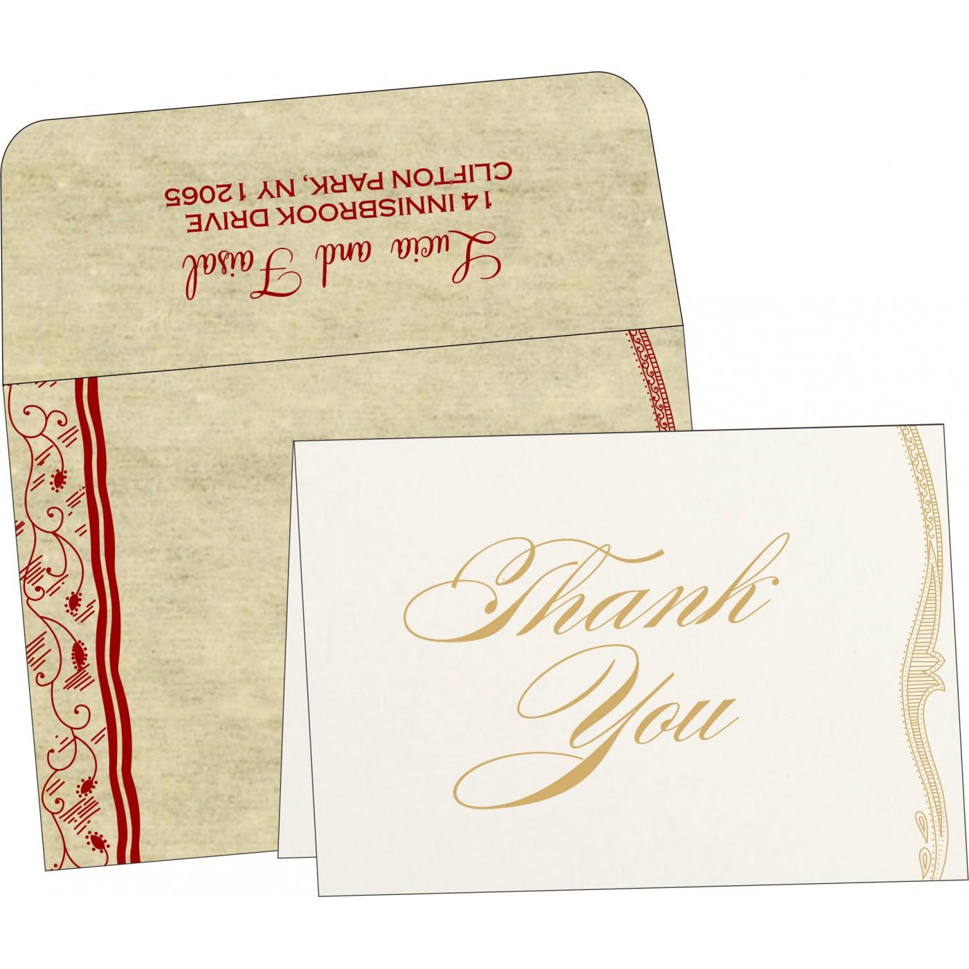 Thank You Cards : TYC-8210G - 123WeddingCards