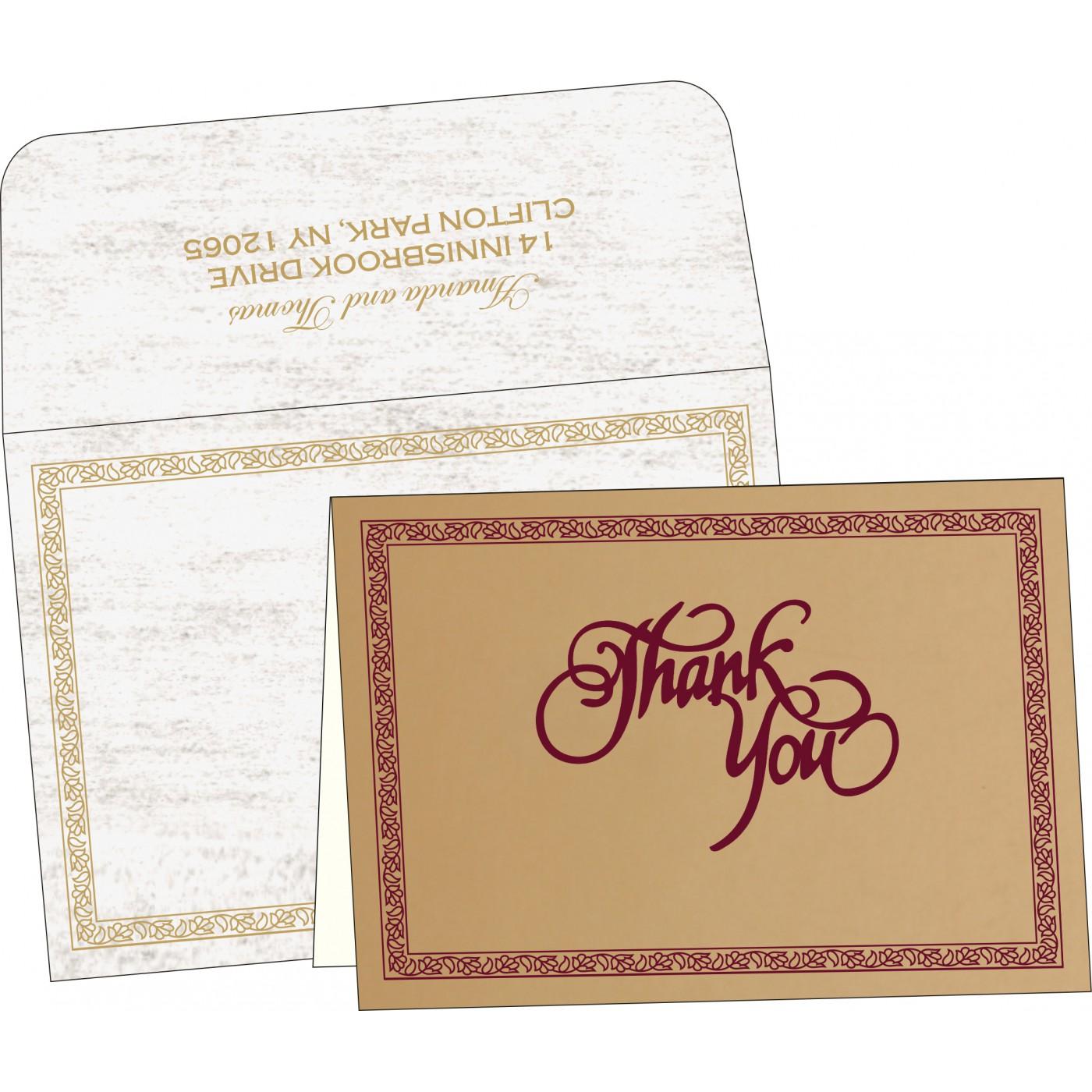 Thank You Cards : TYC-8211A - 123WeddingCards
