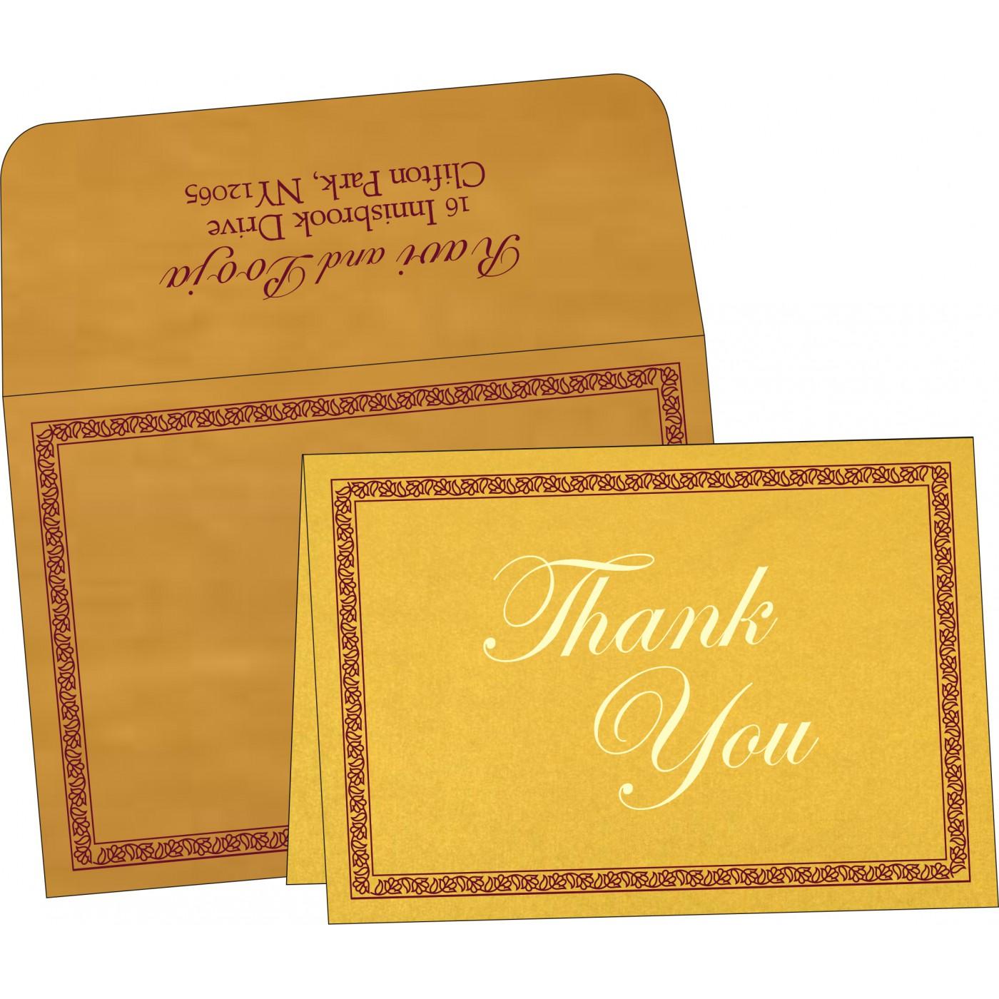 Thank You Cards : TYC-8211E - 123WeddingCards
