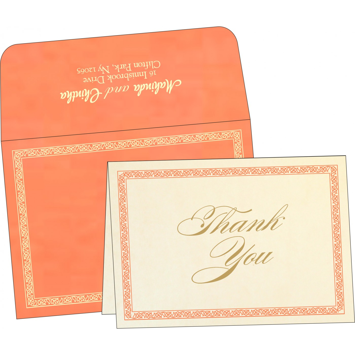 Thank You Cards : TYC-8211F - 123WeddingCards