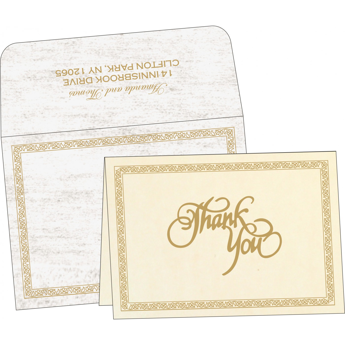 Thank You Cards : TYC-8211G - 123WeddingCards