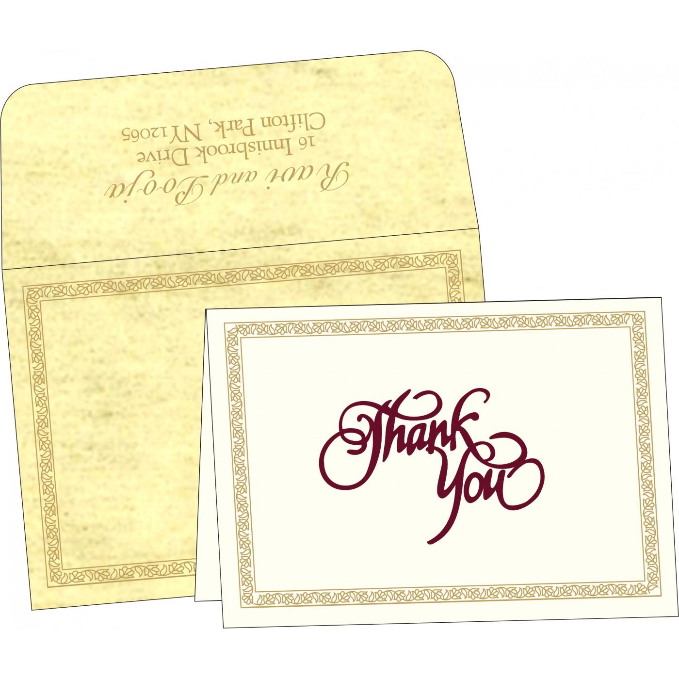 Thank You Cards : TYC-8211K - 123WeddingCards