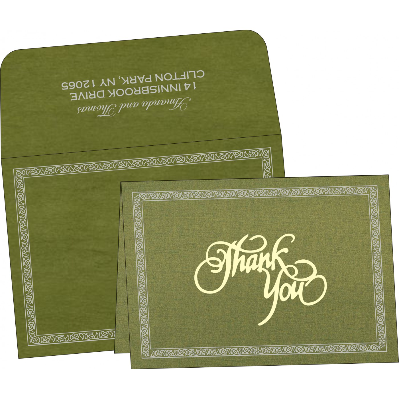 Thank You Cards : TYC-8211M - 123WeddingCards