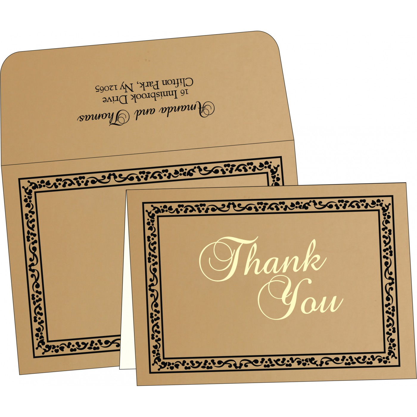 Thank You Cards : TYC-8214D - 123WeddingCards