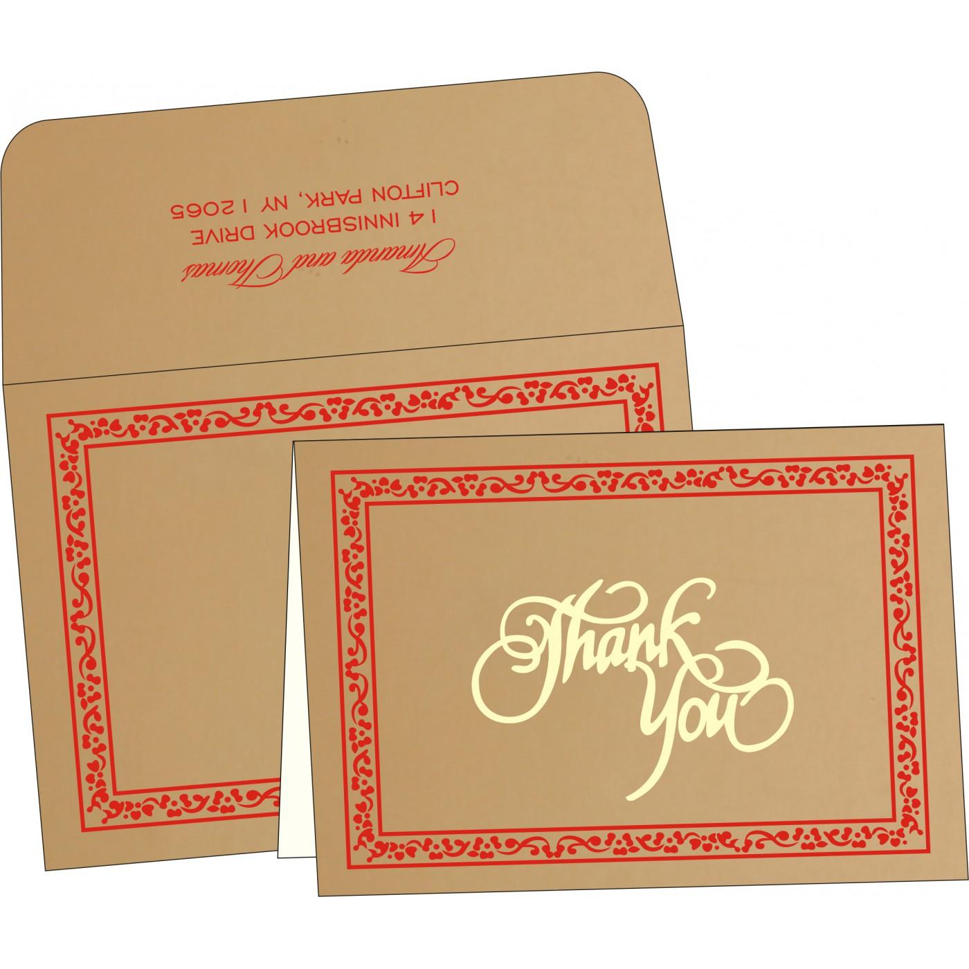 Thank You Cards : TYC-8214H - 123WeddingCards