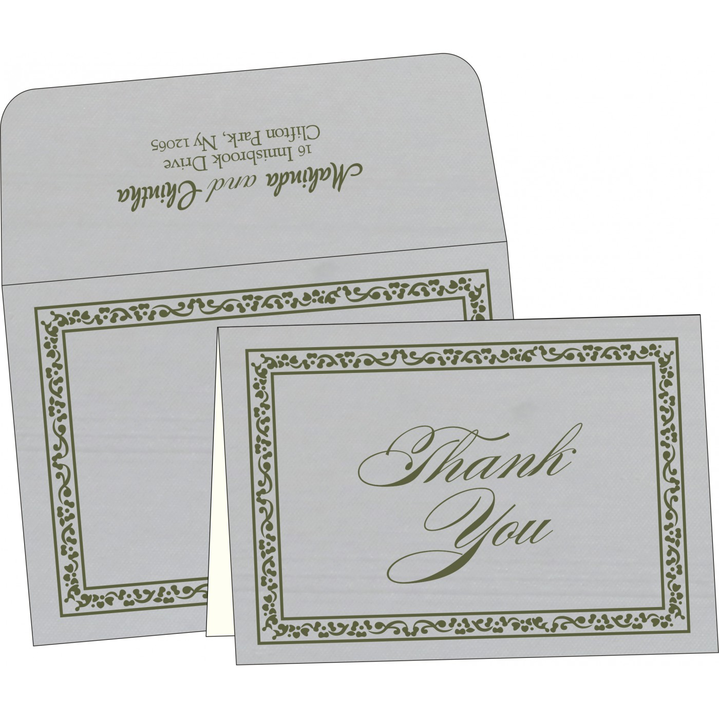 Thank You Cards : TYC-8214L - 123WeddingCards