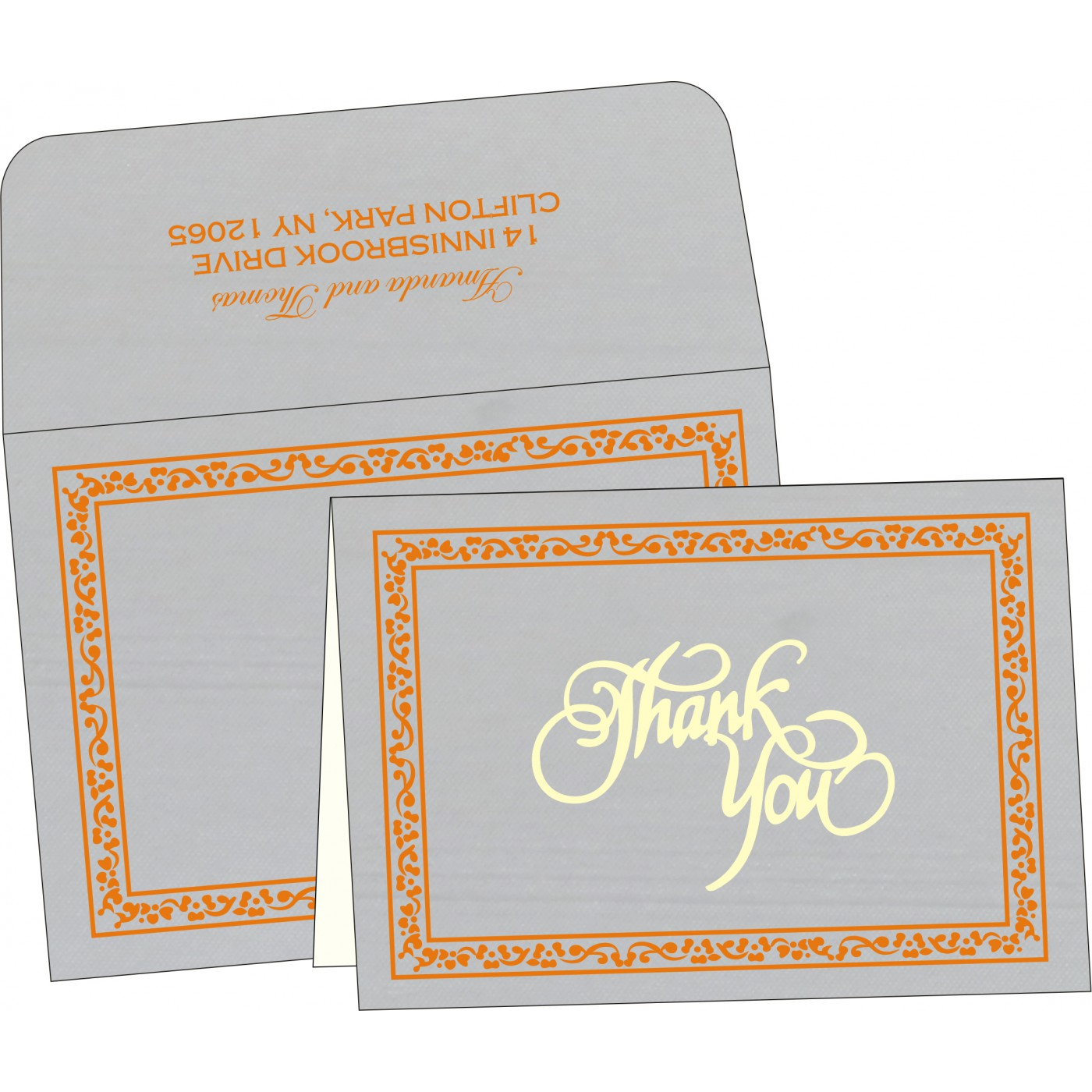 Thank You Cards : TYC-8214M - 123WeddingCards