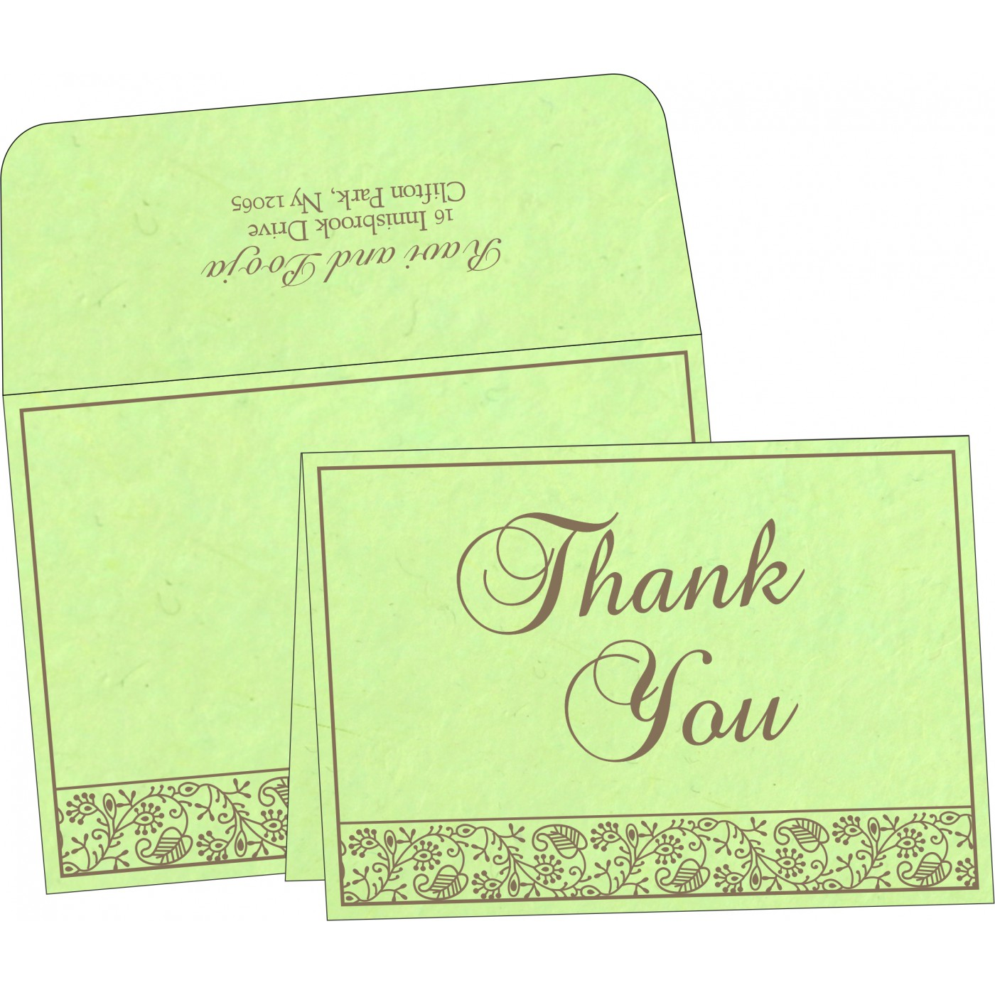 Thank You Cards : TYC-8215D - 123WeddingCards