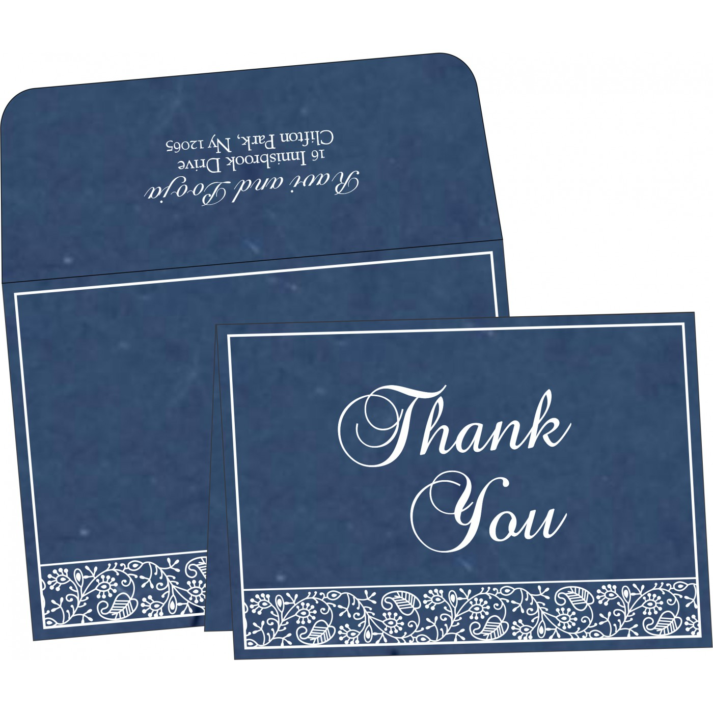 Thank You Cards : TYC-8215I - 123WeddingCards