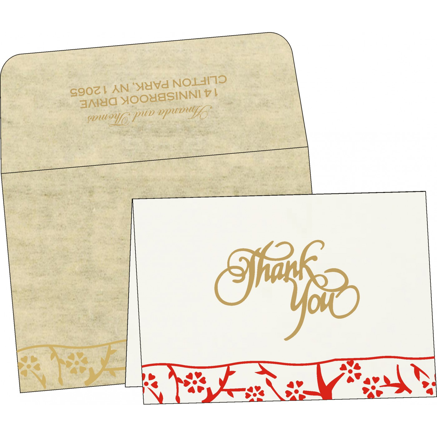 Thank You Cards : TYC-8216A - 123WeddingCards
