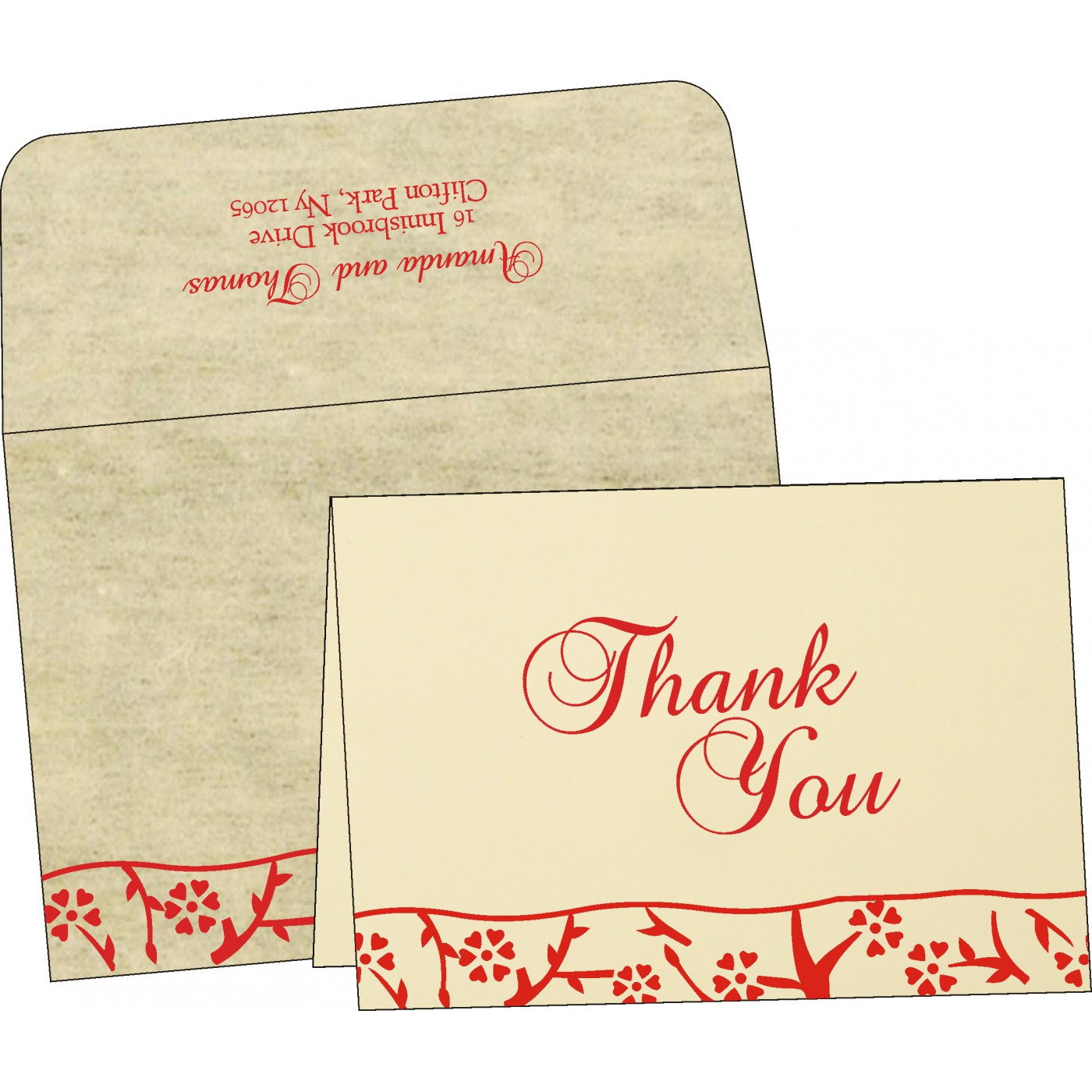 Thank You Cards : TYC-8216C - 123WeddingCards