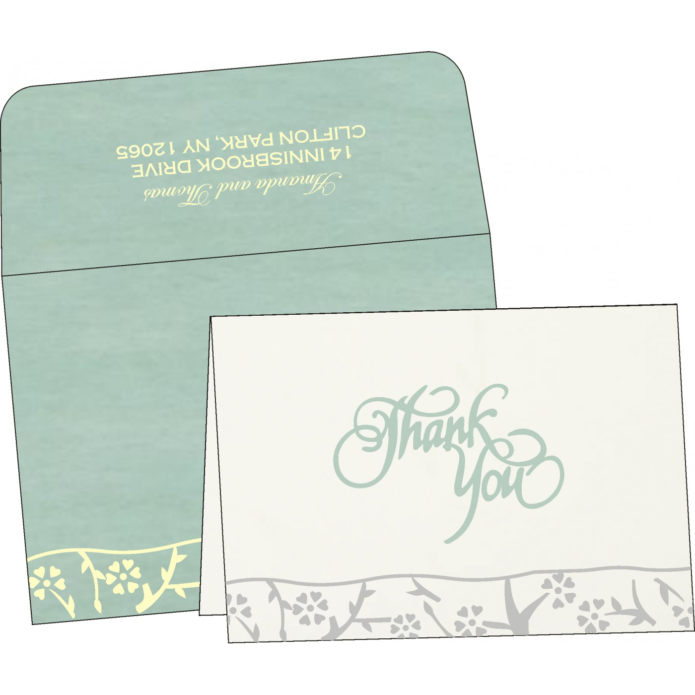 Thank You Cards : TYC-8216F - 123WeddingCards