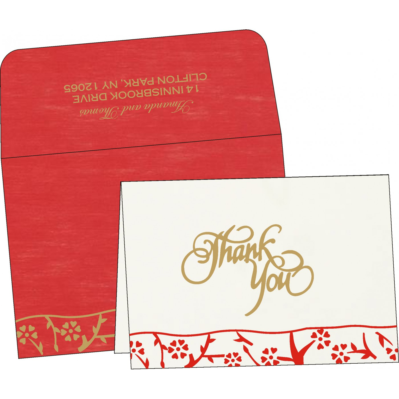 Thank You Cards : TYC-8216L - 123WeddingCards
