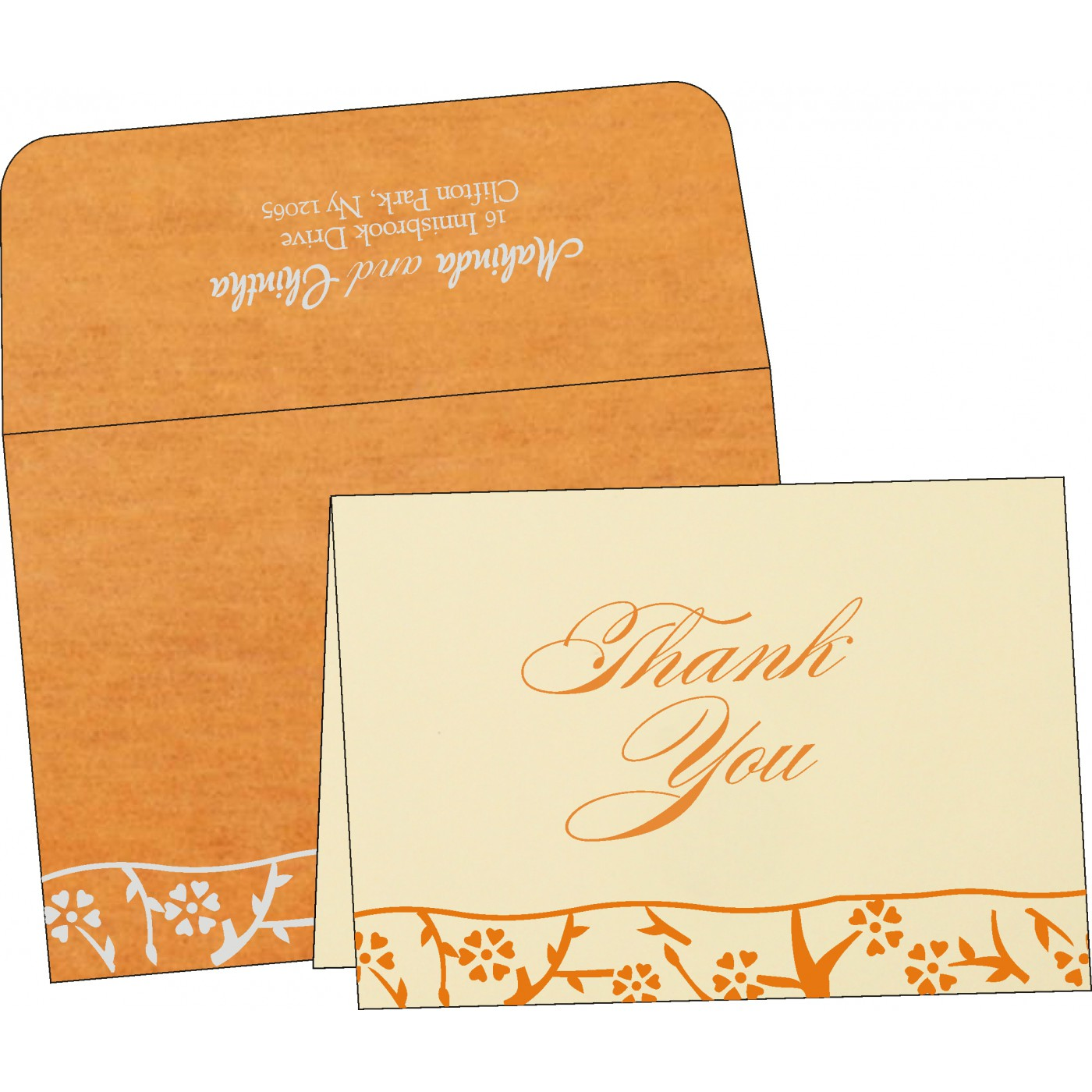 Thank You Cards : TYC-8216O - 123WeddingCards